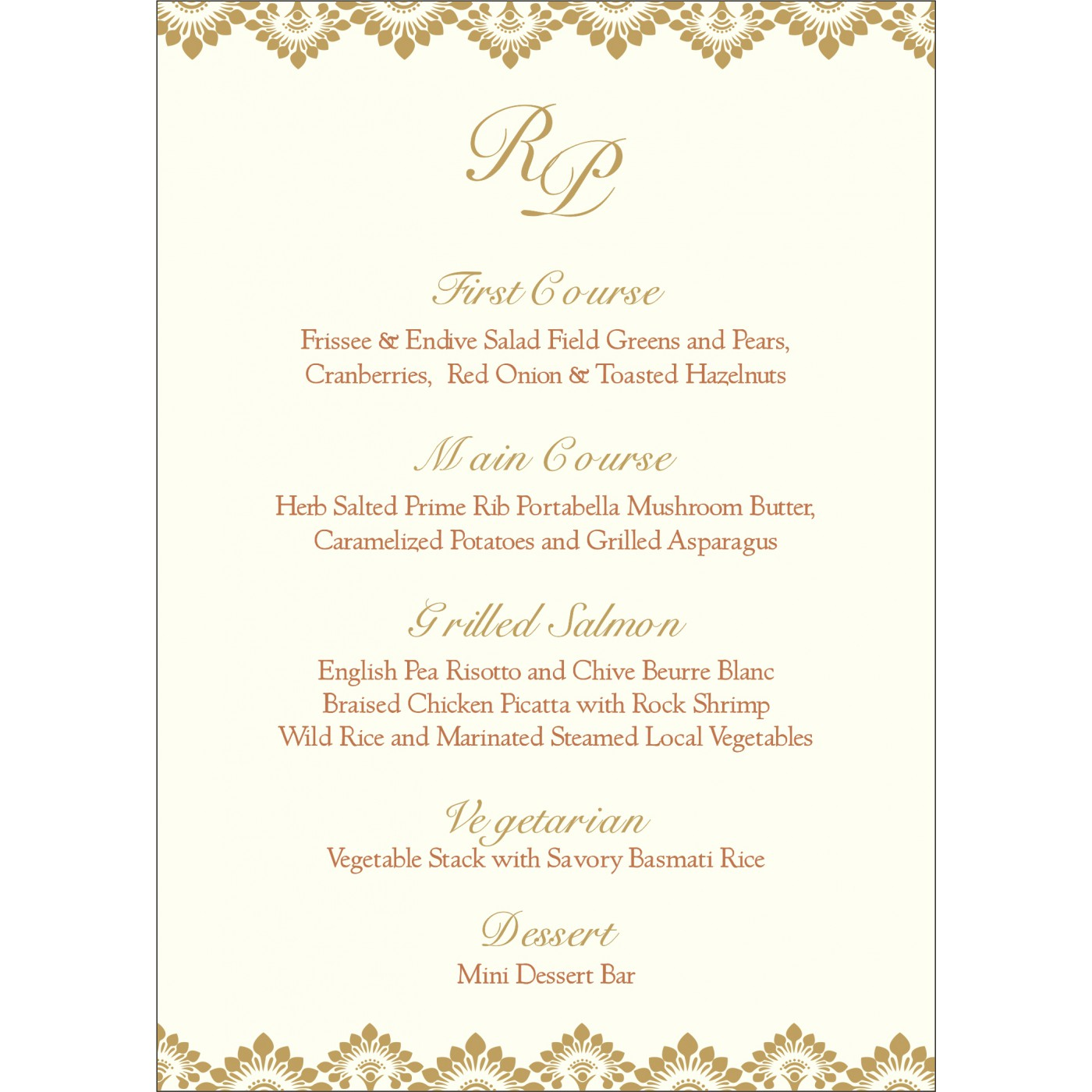Menu Cards : CMENU-8239H - IndianWeddingCards