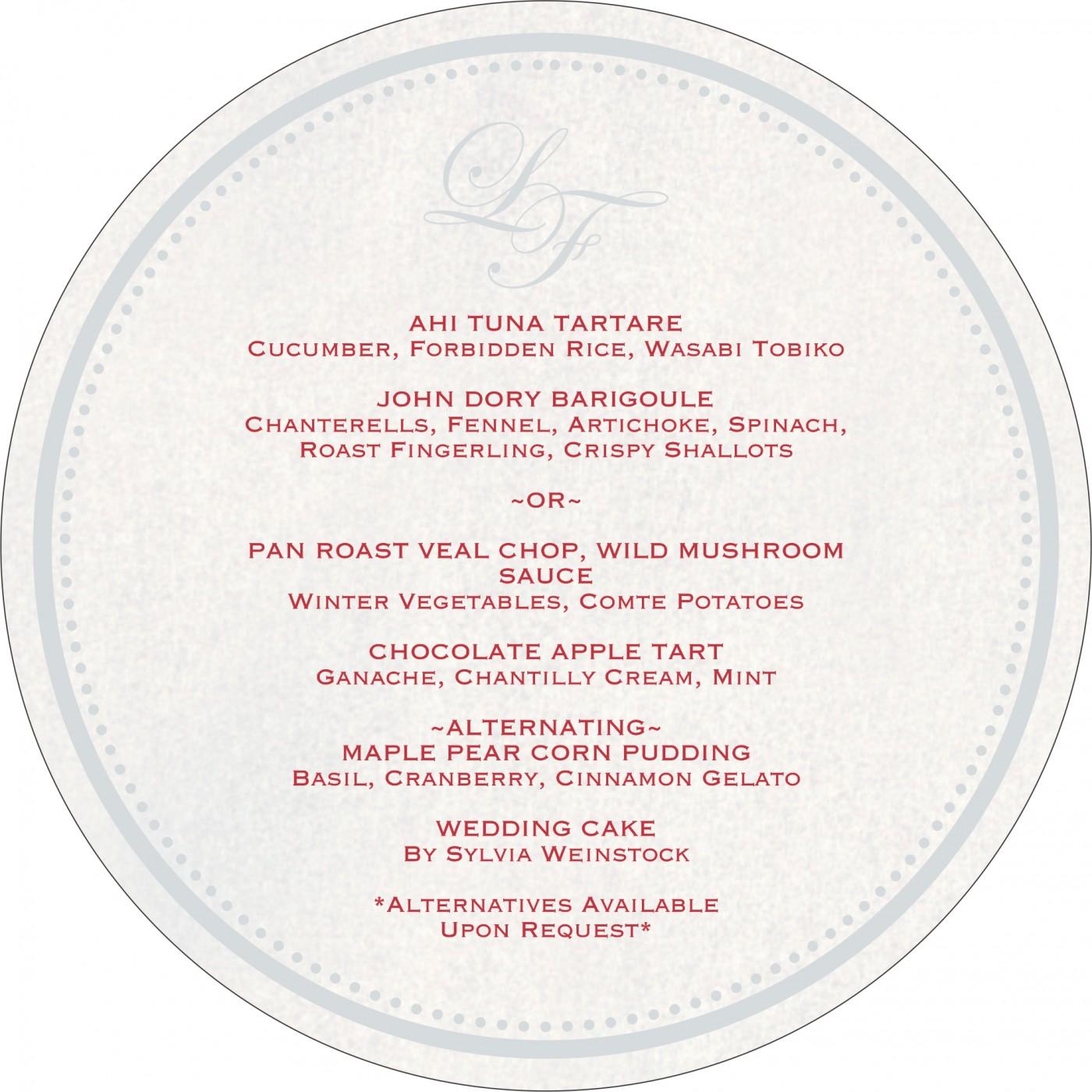 Menu Cards : CMENU-8241P - IndianWeddingCards