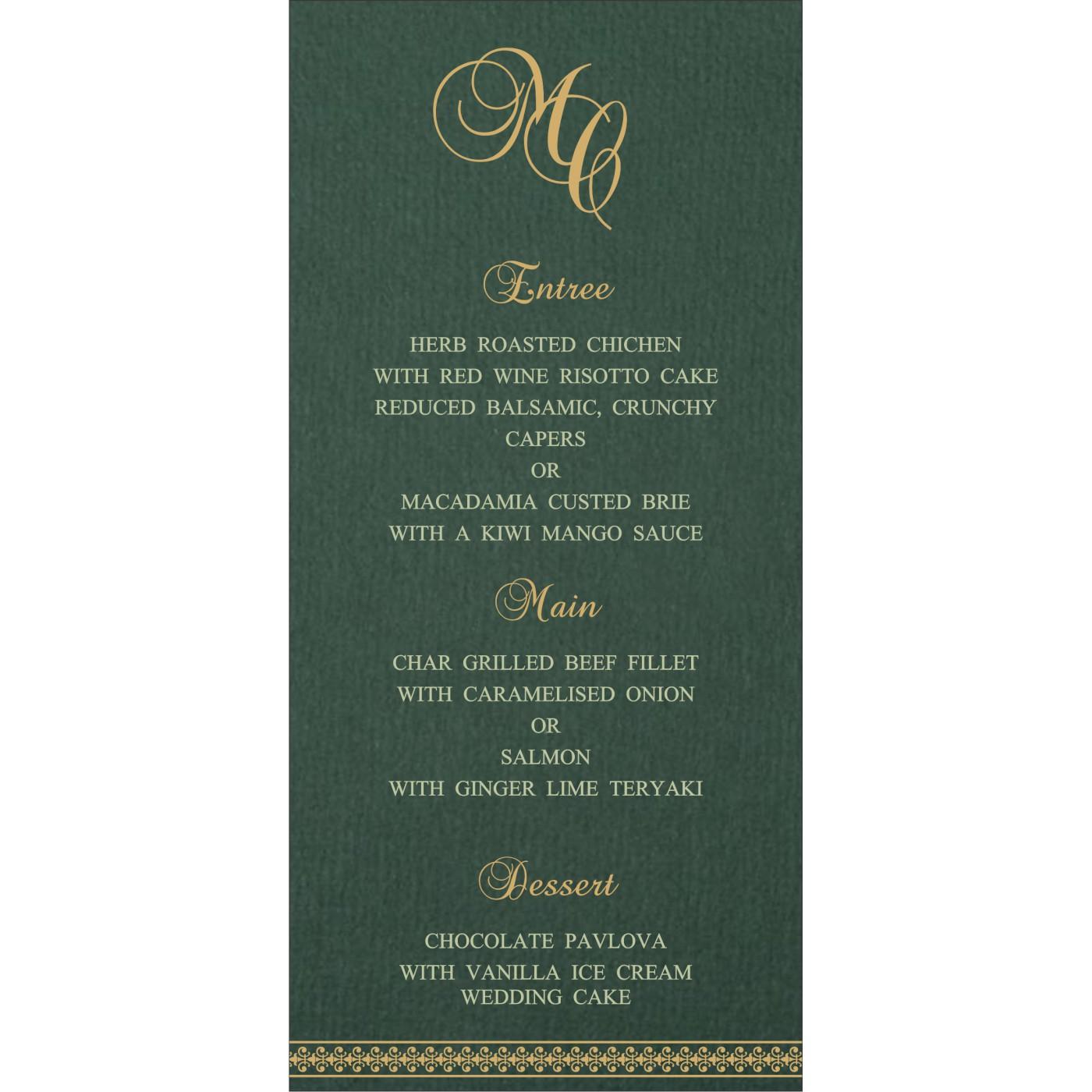 Menu Cards : CMENU-8247N - IndianWeddingCards