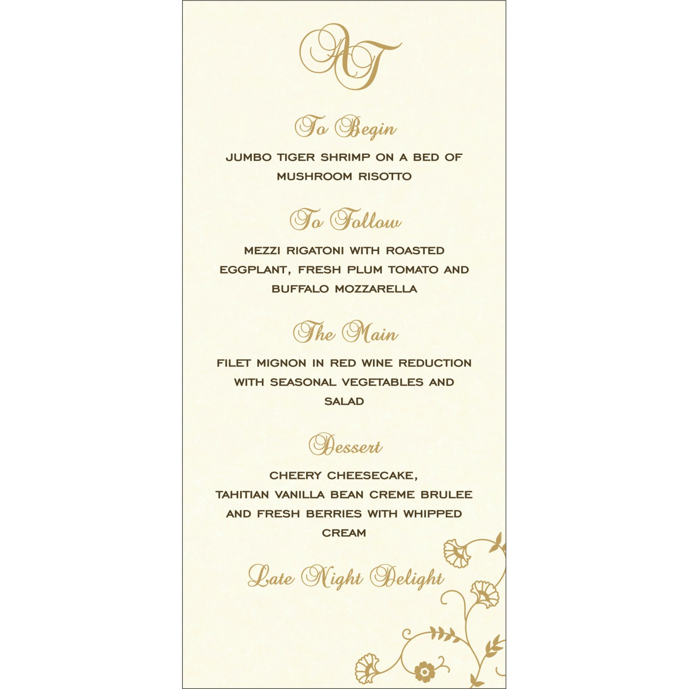 Menu Cards : CMENU-8248C - IndianWeddingCards
