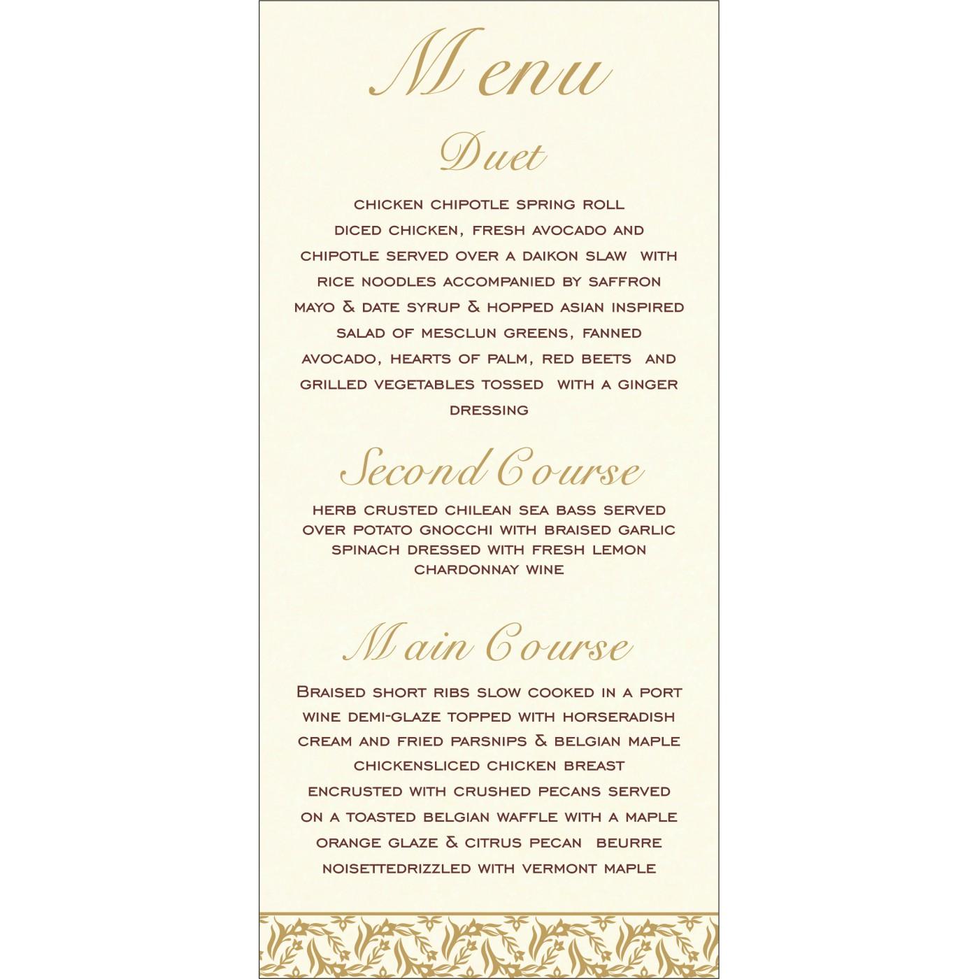 Menu Cards : CMENU-8249J - IndianWeddingCards