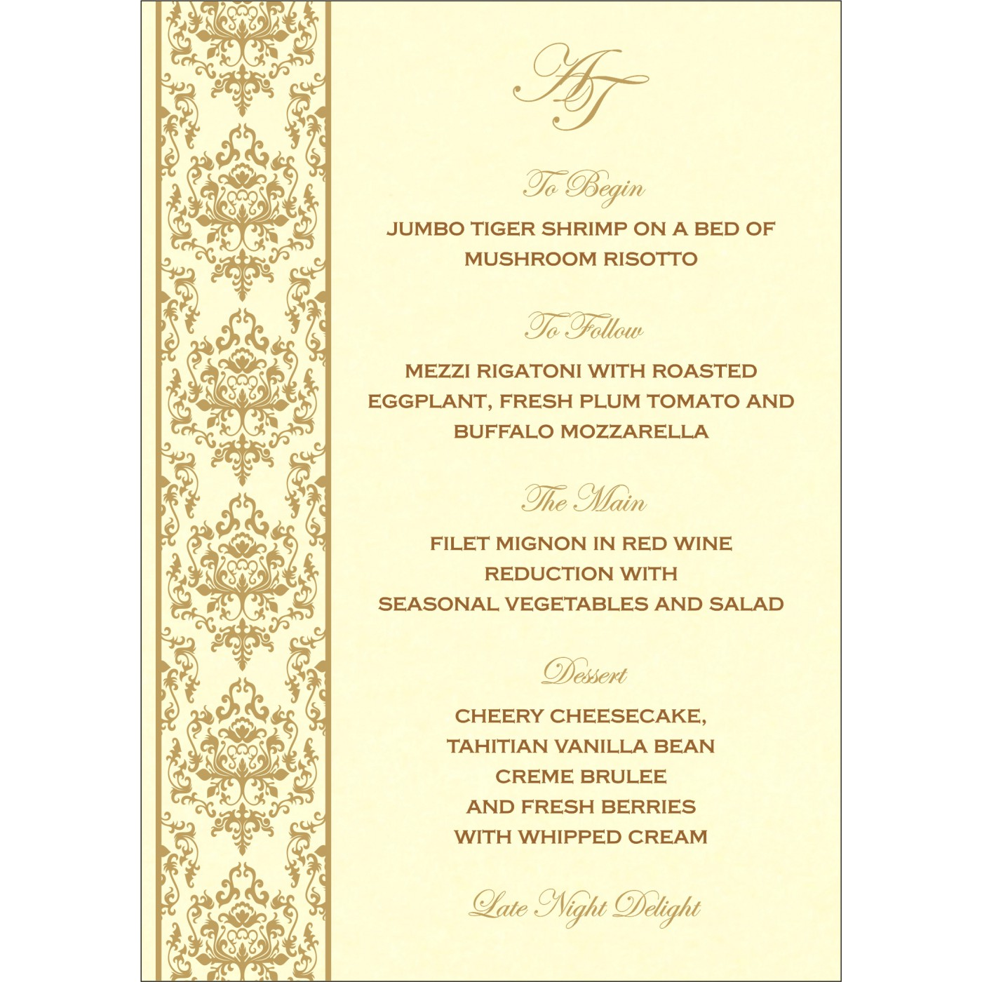 Menu Cards : CMENU-8253A - IndianWeddingCards