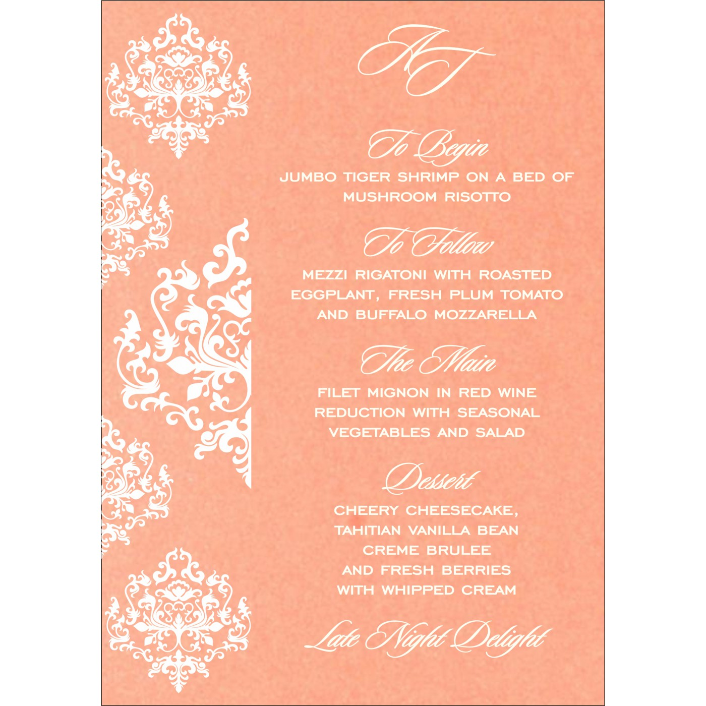 Menu Cards : CMENU-8254G - IndianWeddingCards