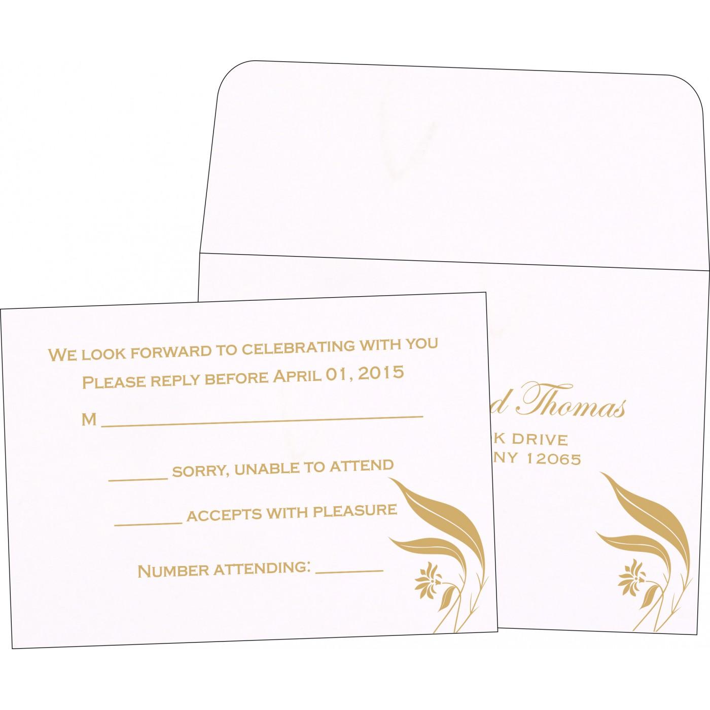 RSVP Cards : CRSVP-1114 - IndianWeddingCards