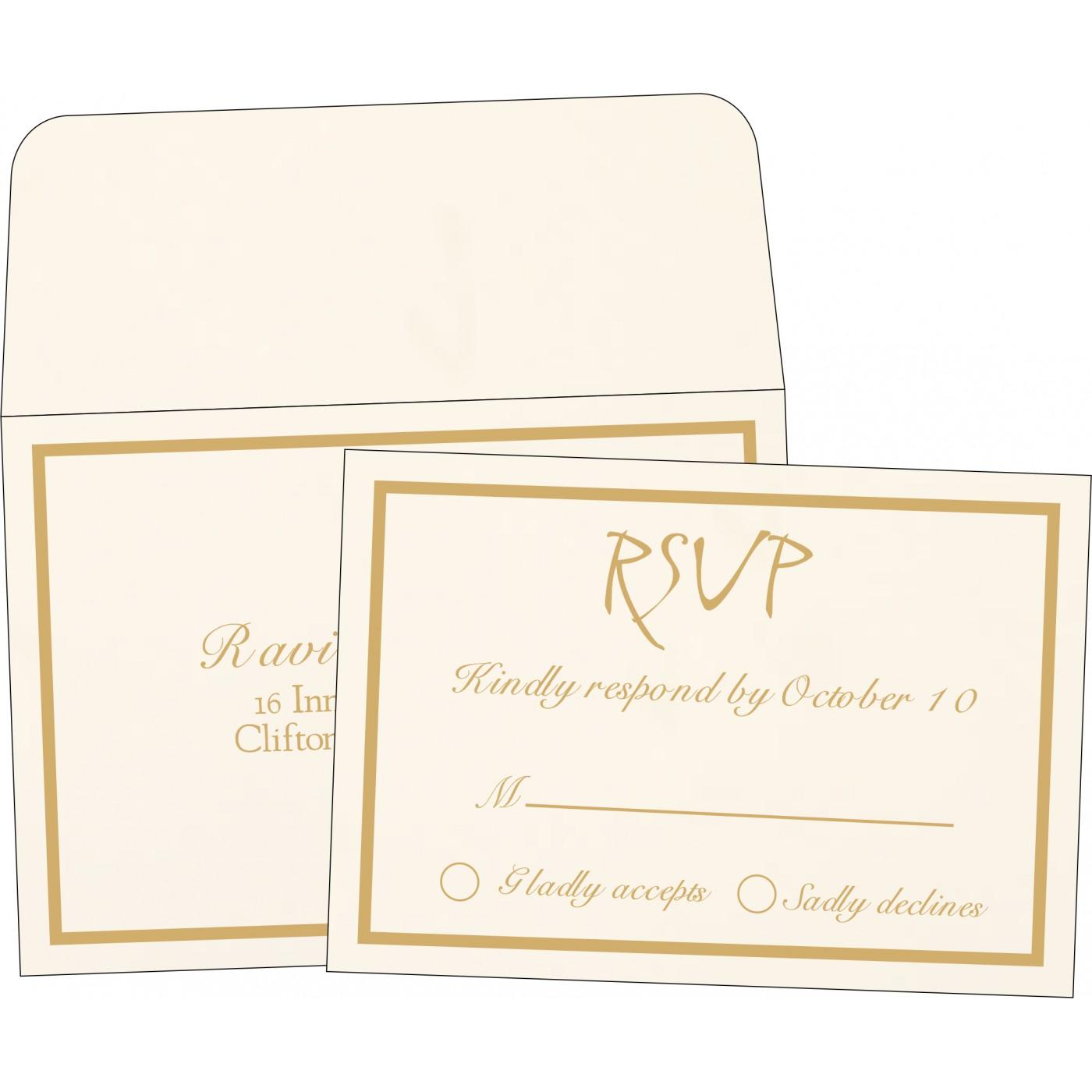 RSVP Cards : CRSVP-1144 - IndianWeddingCards