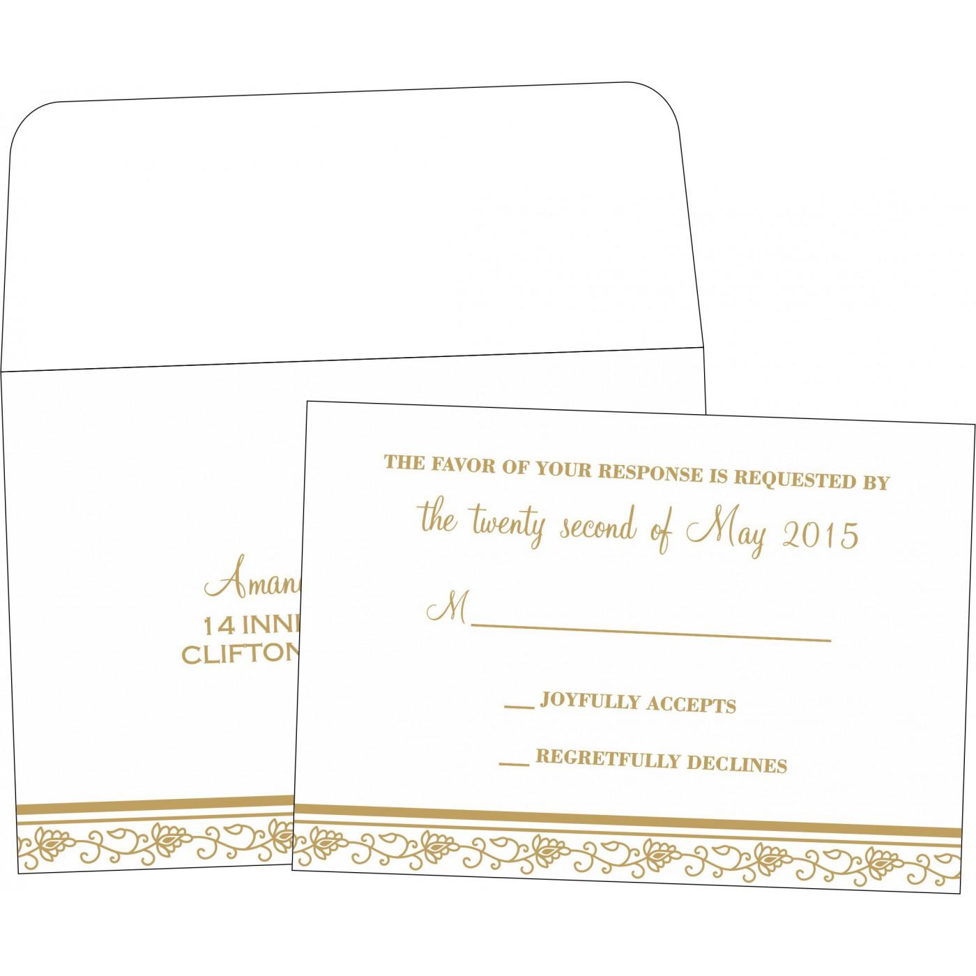 RSVP Cards : CRSVP-1171 - IndianWeddingCards