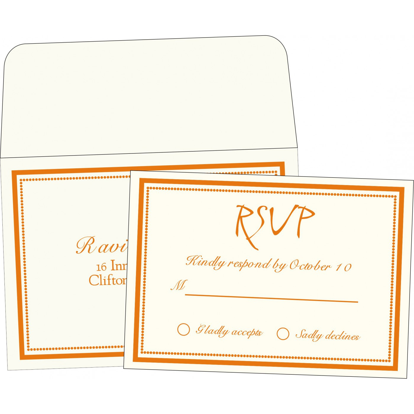 RSVP Cards : CRSVP-1183 - IndianWeddingCards