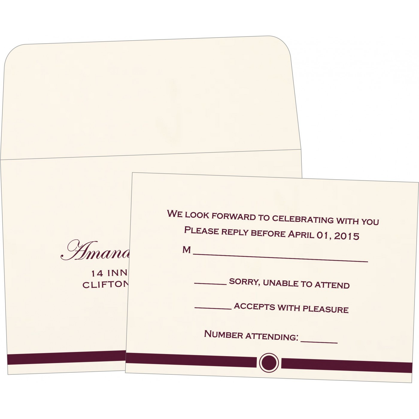 RSVP Cards : CRSVP-1204 - IndianWeddingCards