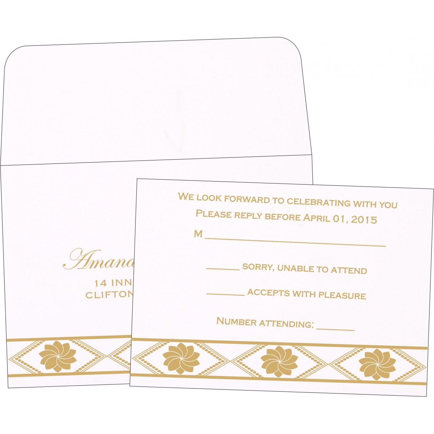 RSVP Cards : CRSVP-1228 - IndianWeddingCards