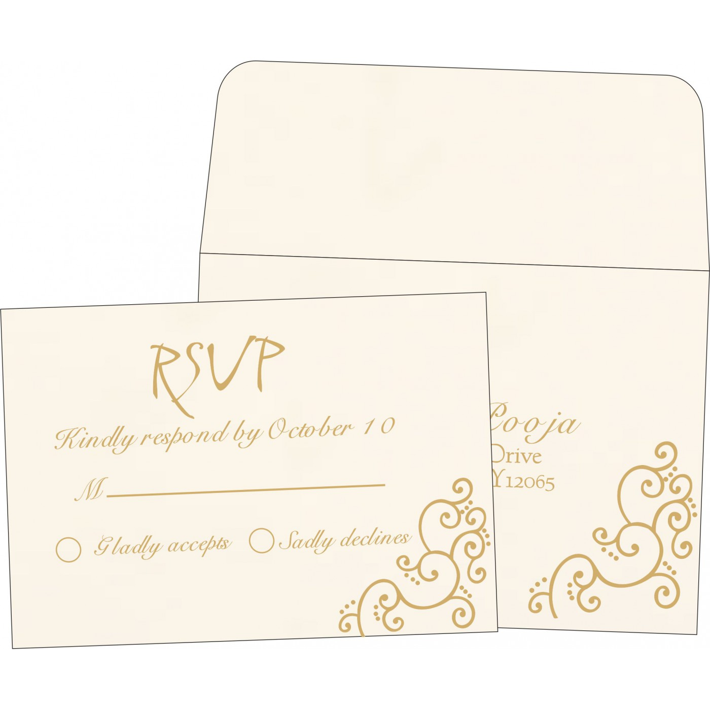 RSVP Cards : CRSVP-1236 - IndianWeddingCards