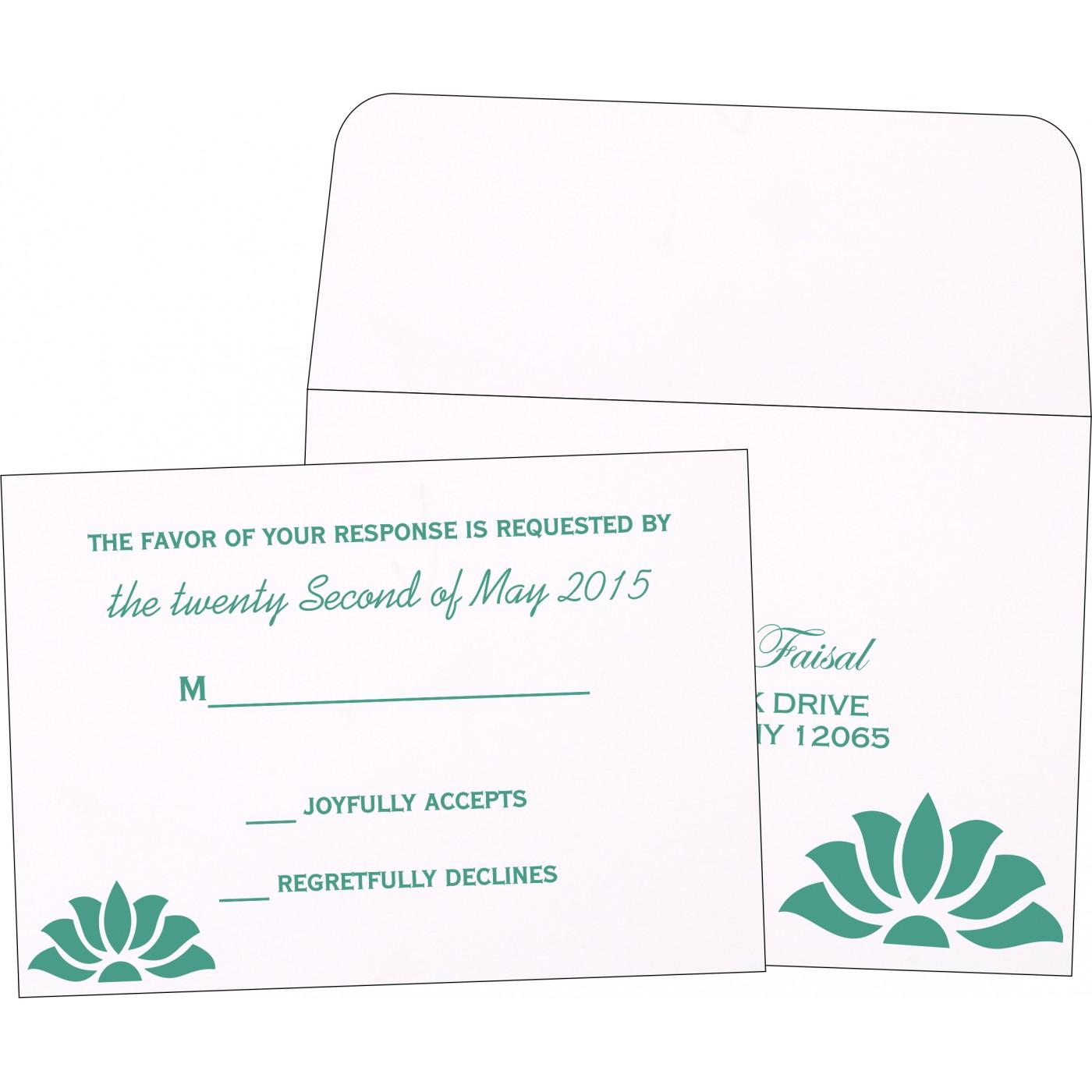 RSVP Cards : CRSVP-1254 - IndianWeddingCards