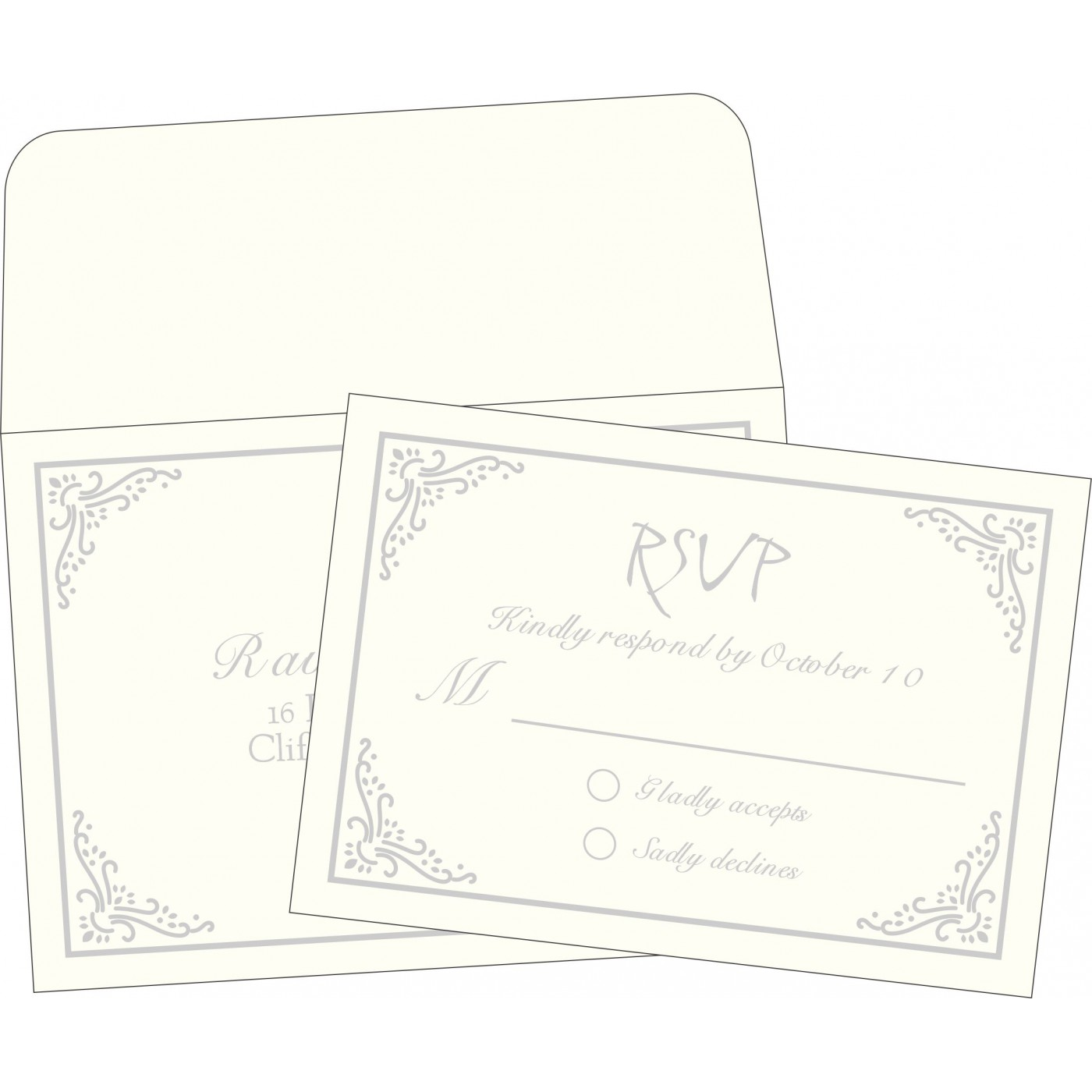 RSVP Cards : CRSVP-1325 - IndianWeddingCards