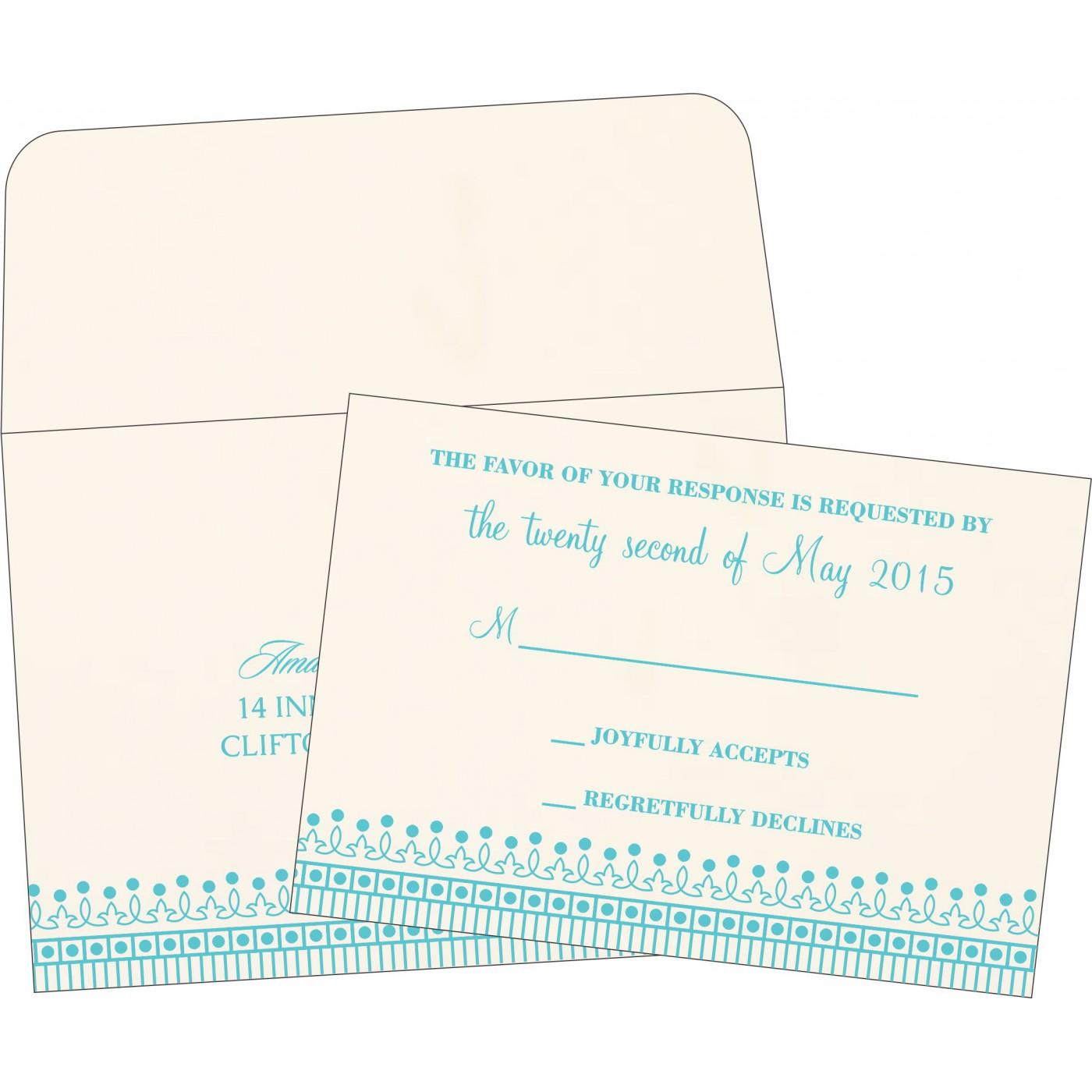 RSVP Cards : CRSVP-1338 - IndianWeddingCards