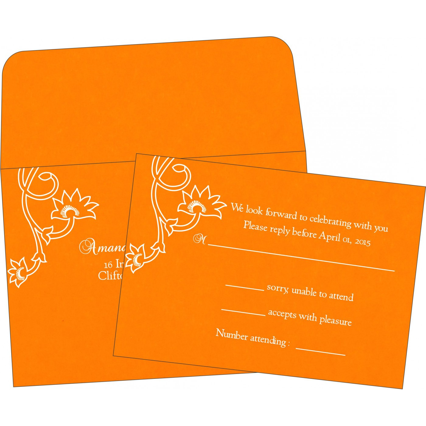 RSVP Cards : CRSVP-1346 - IndianWeddingCards