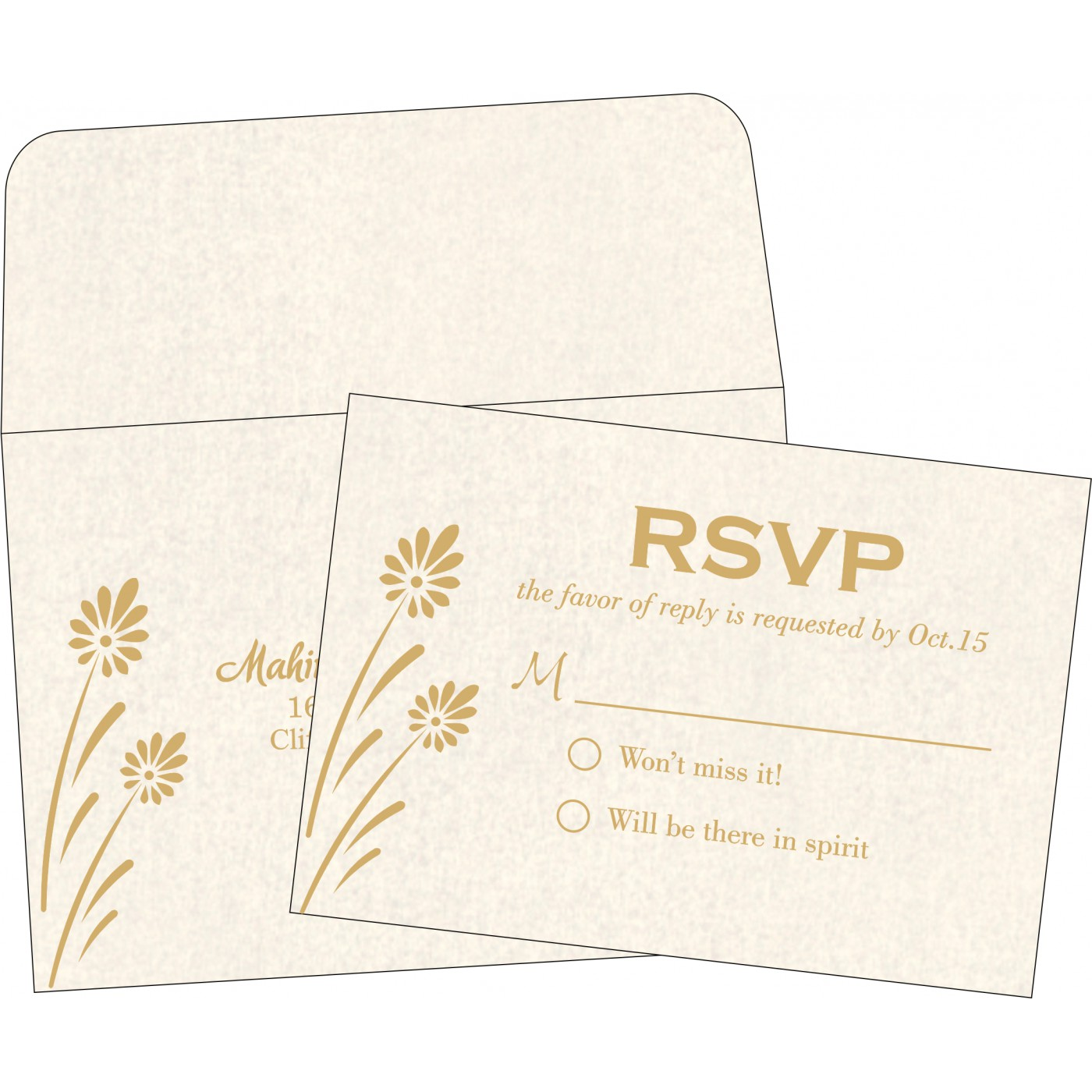 RSVP Cards : CRSVP-1372 - IndianWeddingCards