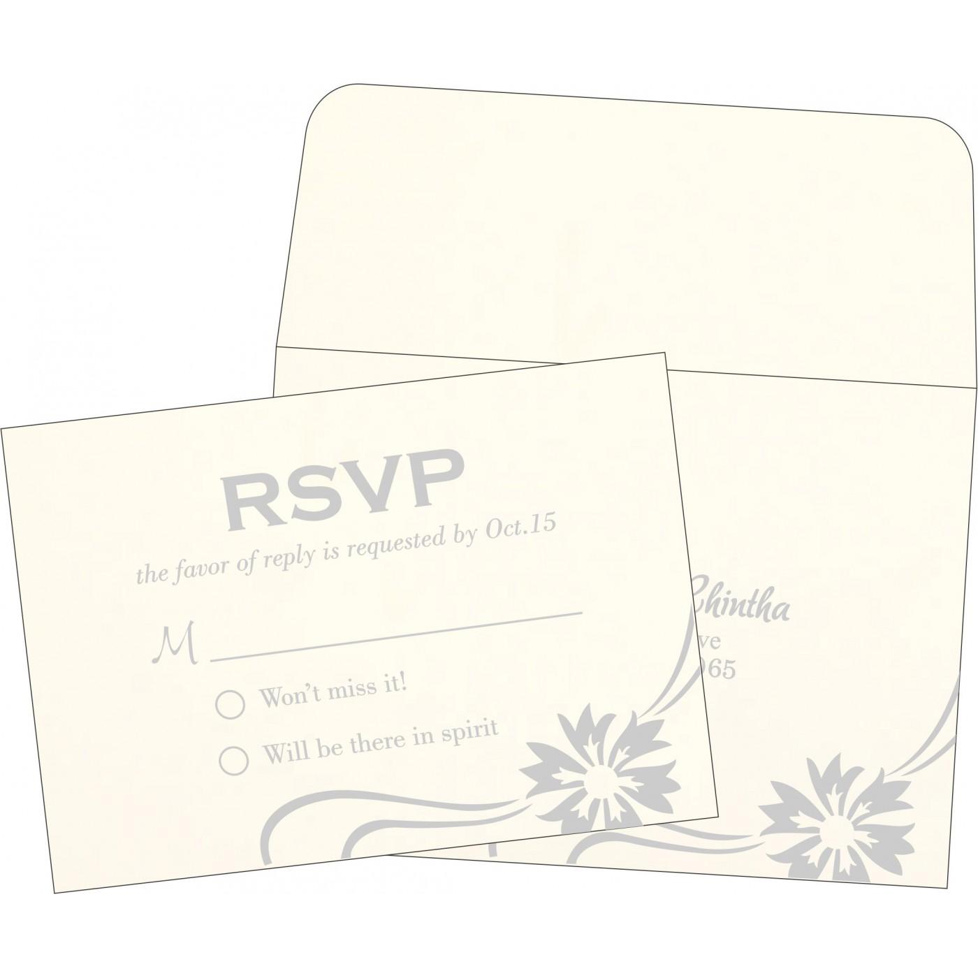 RSVP Cards : CRSVP-1380 - IndianWeddingCards