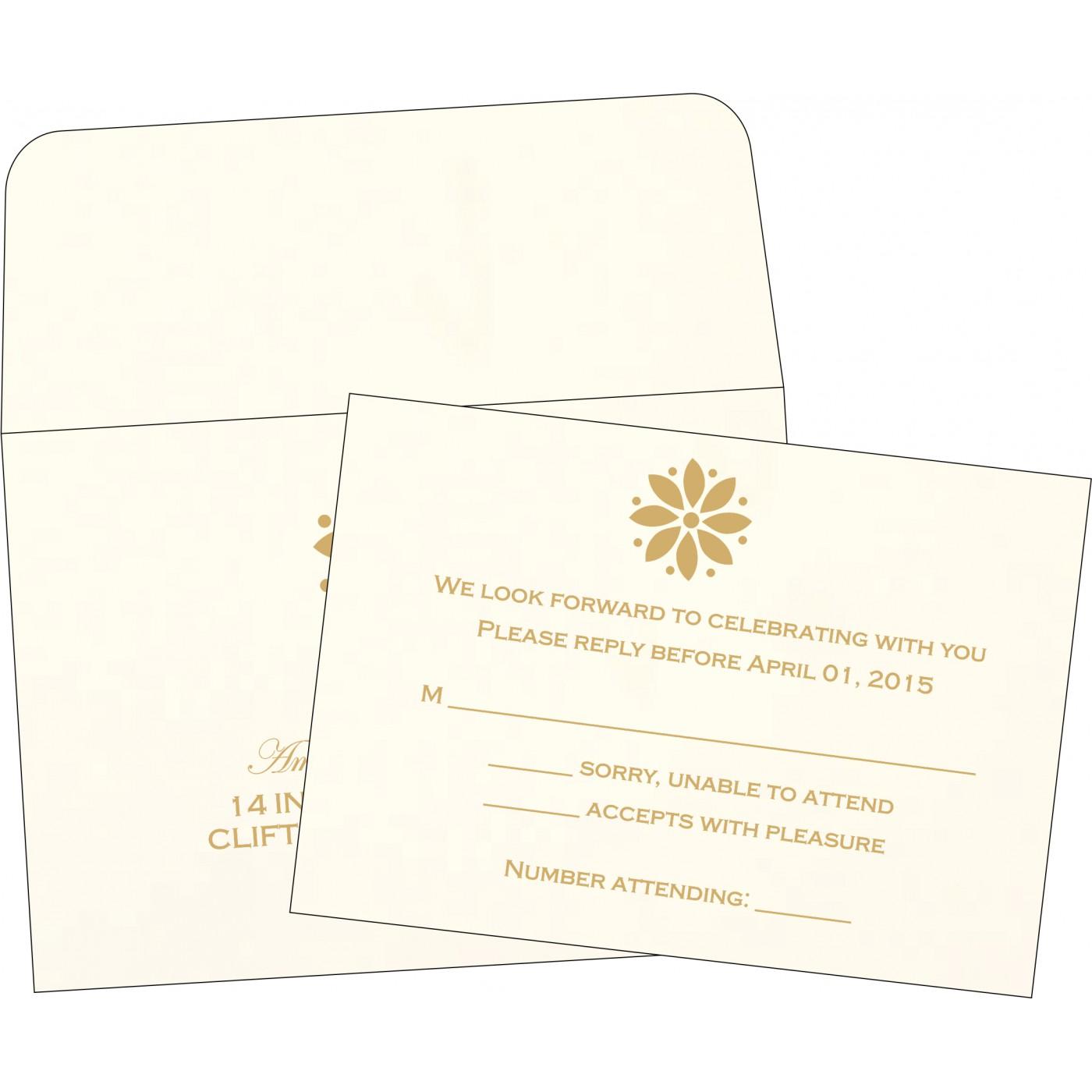 RSVP Cards : CRSVP-1385 - IndianWeddingCards