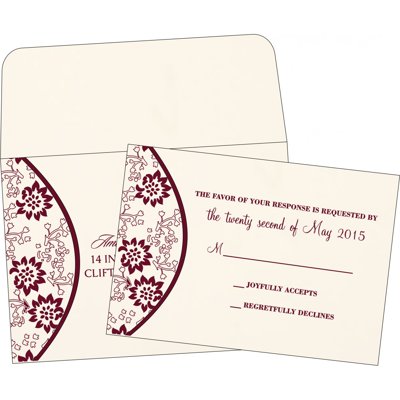RSVP Cards : CRSVP-1391 - IndianWeddingCards