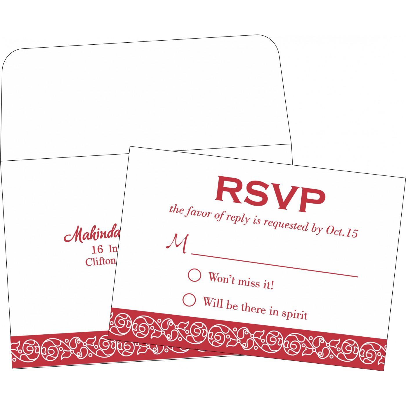 RSVP Cards : CRSVP-1396 - IndianWeddingCards
