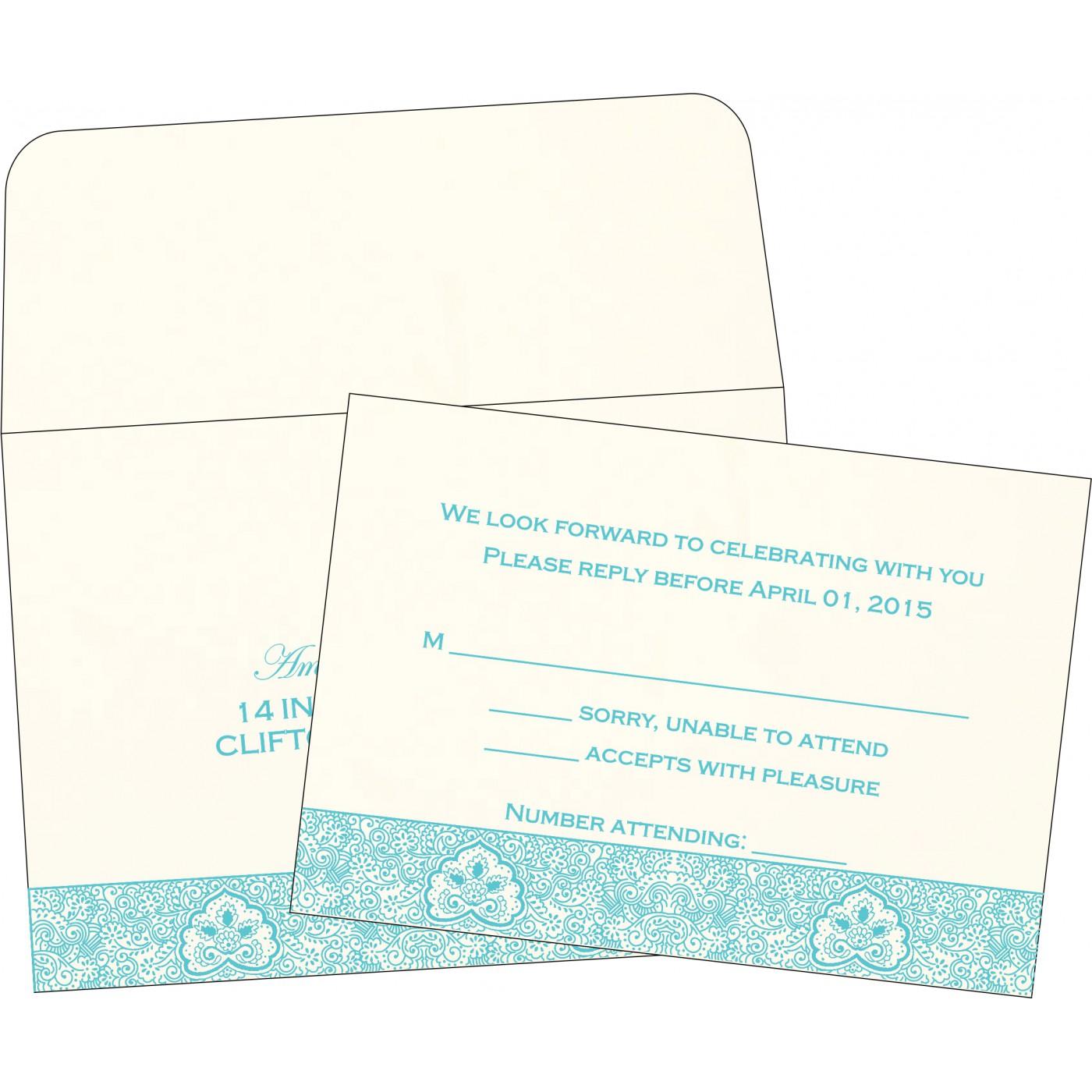 RSVP Cards : CRSVP-1410 - IndianWeddingCards