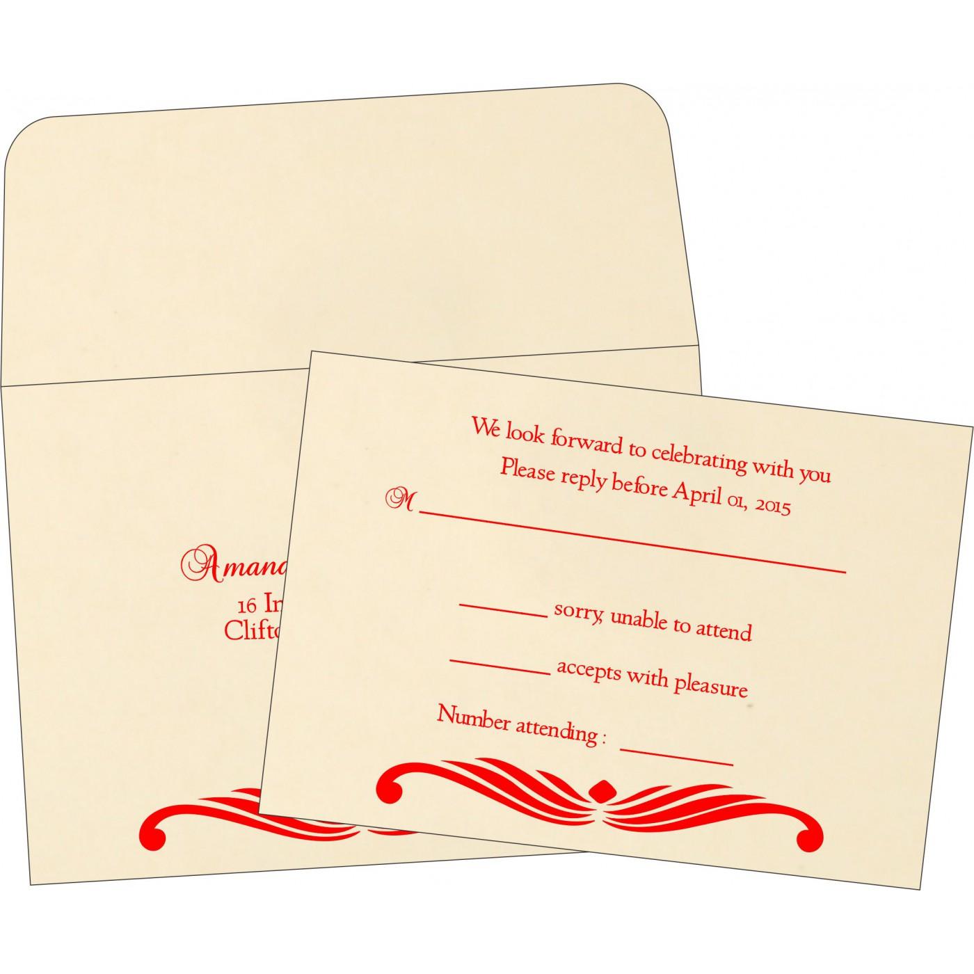 RSVP Cards : CRSVP-1412 - IndianWeddingCards