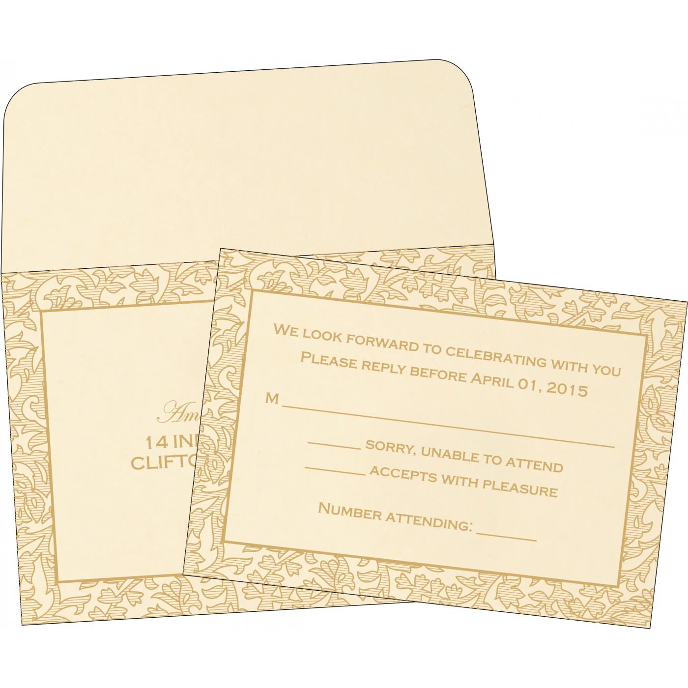 RSVP Cards : CRSVP-1426 - IndianWeddingCards
