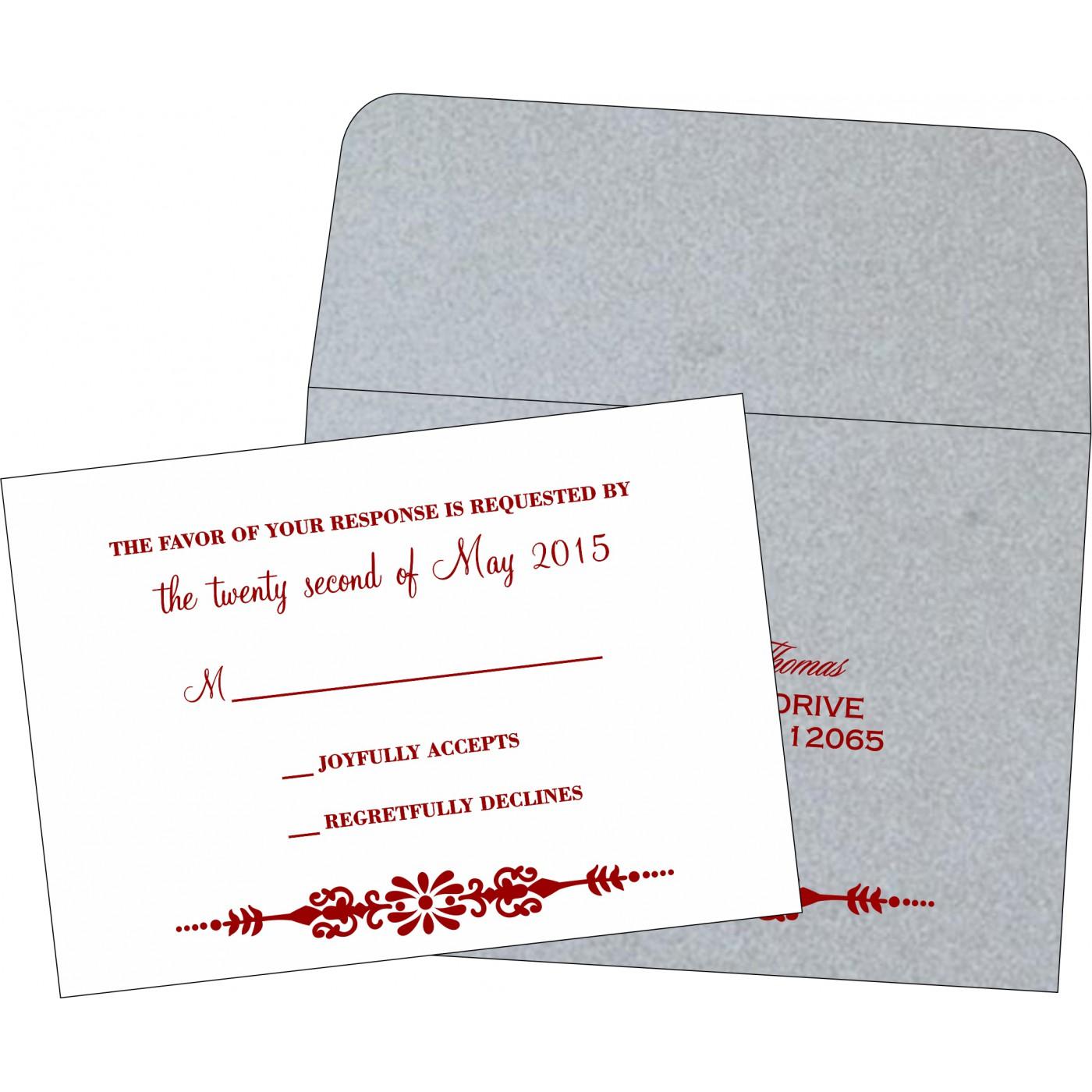 RSVP Cards : CRSVP-1427 - IndianWeddingCards