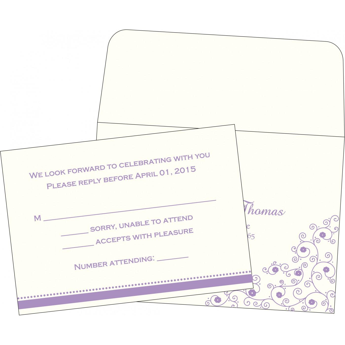 RSVP Cards : CRSVP-1431 - IndianWeddingCards