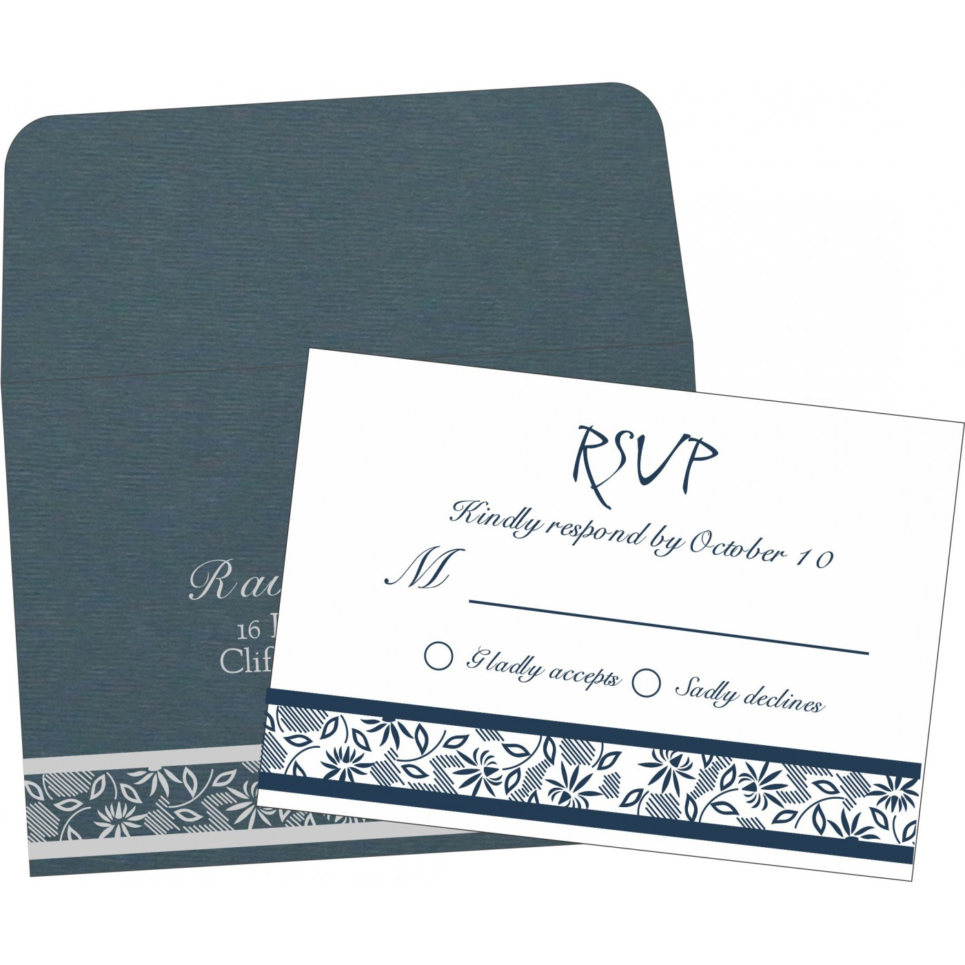 RSVP Cards : CRSVP-1433 - IndianWeddingCards