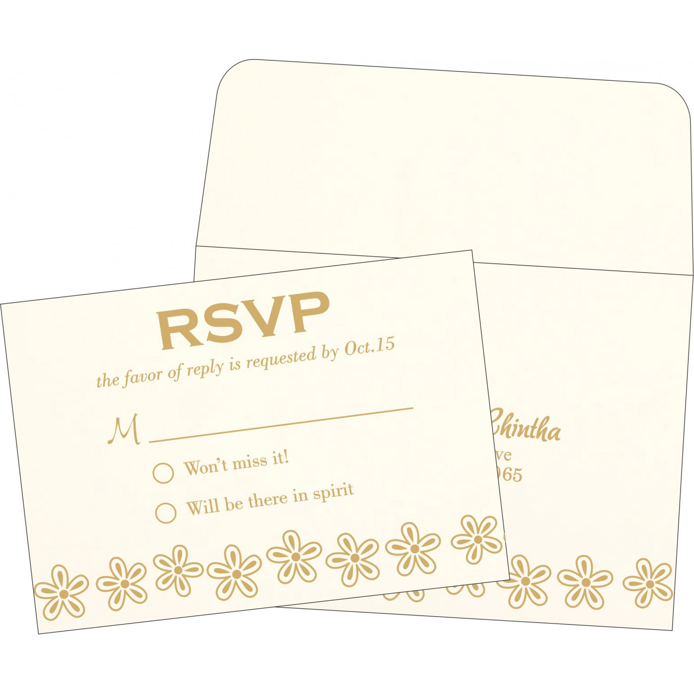 RSVP Cards : CRSVP-1439 - IndianWeddingCards