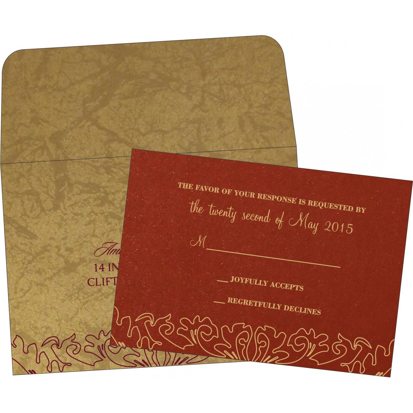 RSVP Cards : CRSVP-1465 - IndianWeddingCards