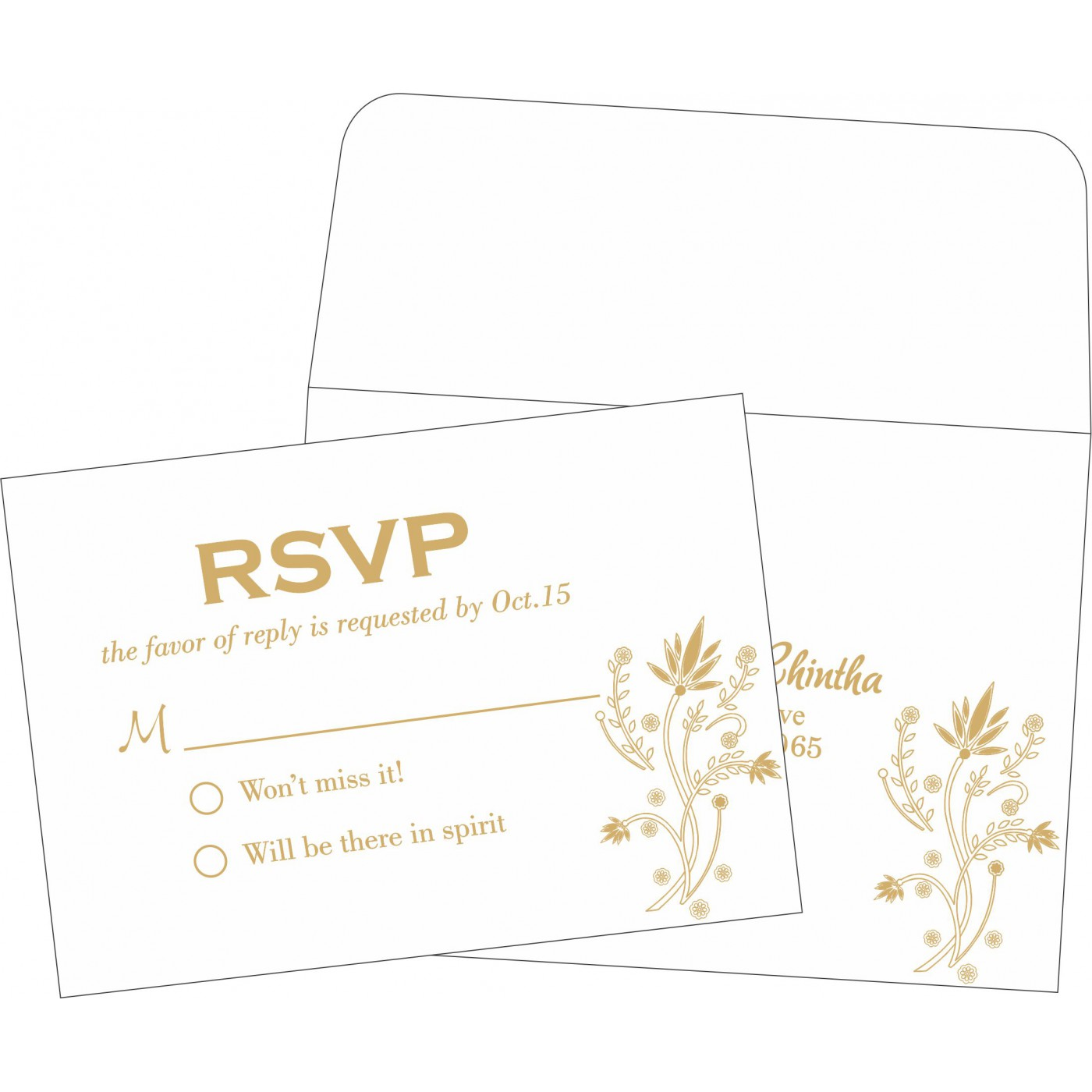 RSVP Cards : CRSVP-1495 - IndianWeddingCards