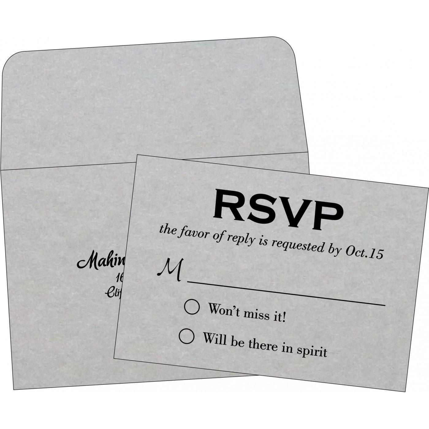 RSVP Cards : CRSVP-1498 - IndianWeddingCards