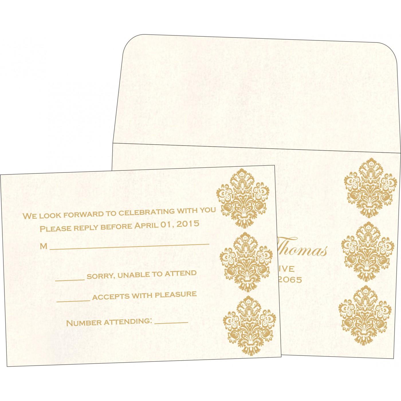 RSVP Cards : CRSVP-1508 - IndianWeddingCards