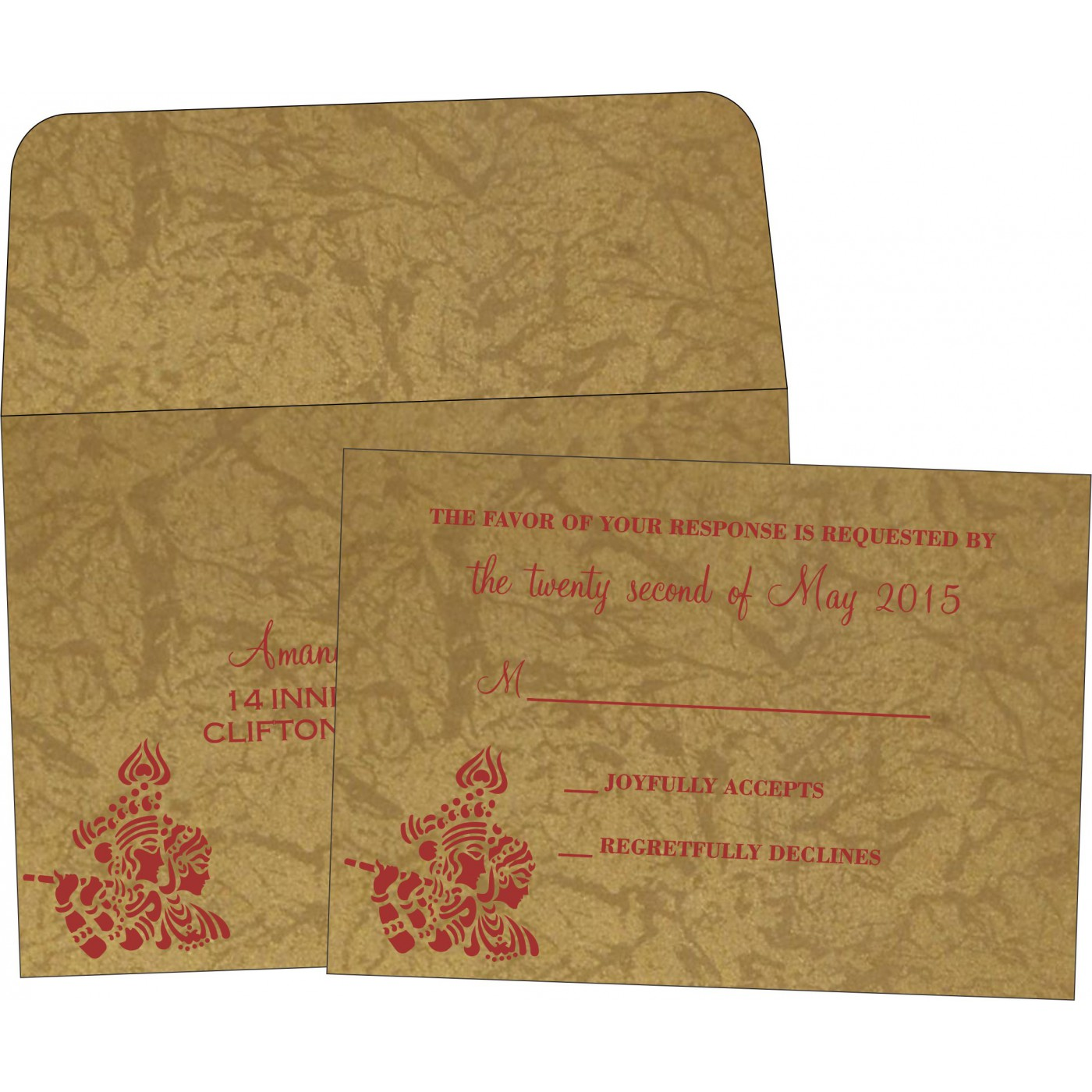 RSVP Cards : CRSVP-1690 - IndianWeddingCards