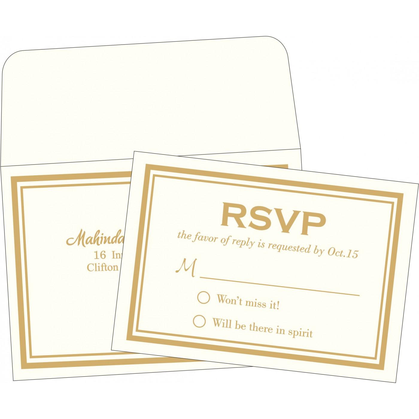 RSVP Cards : CRSVP-2076 - IndianWeddingCards
