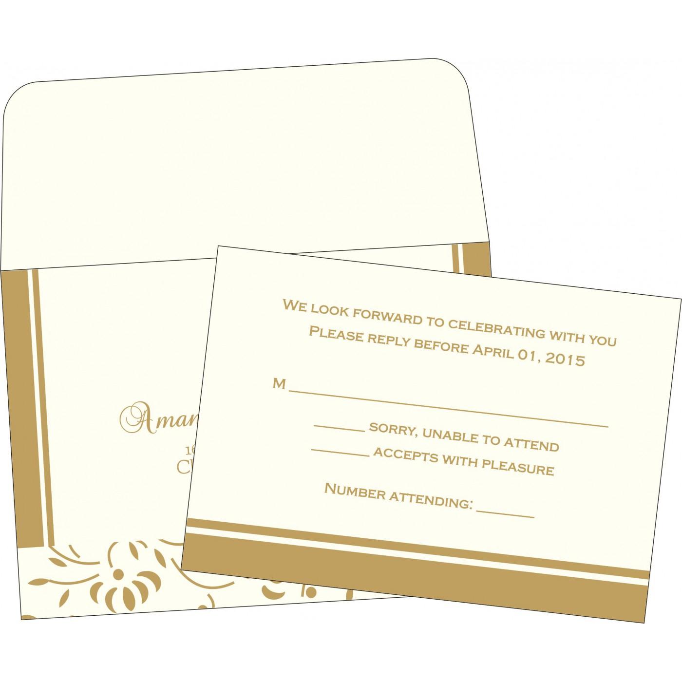 RSVP Cards : CRSVP-2153 - IndianWeddingCards