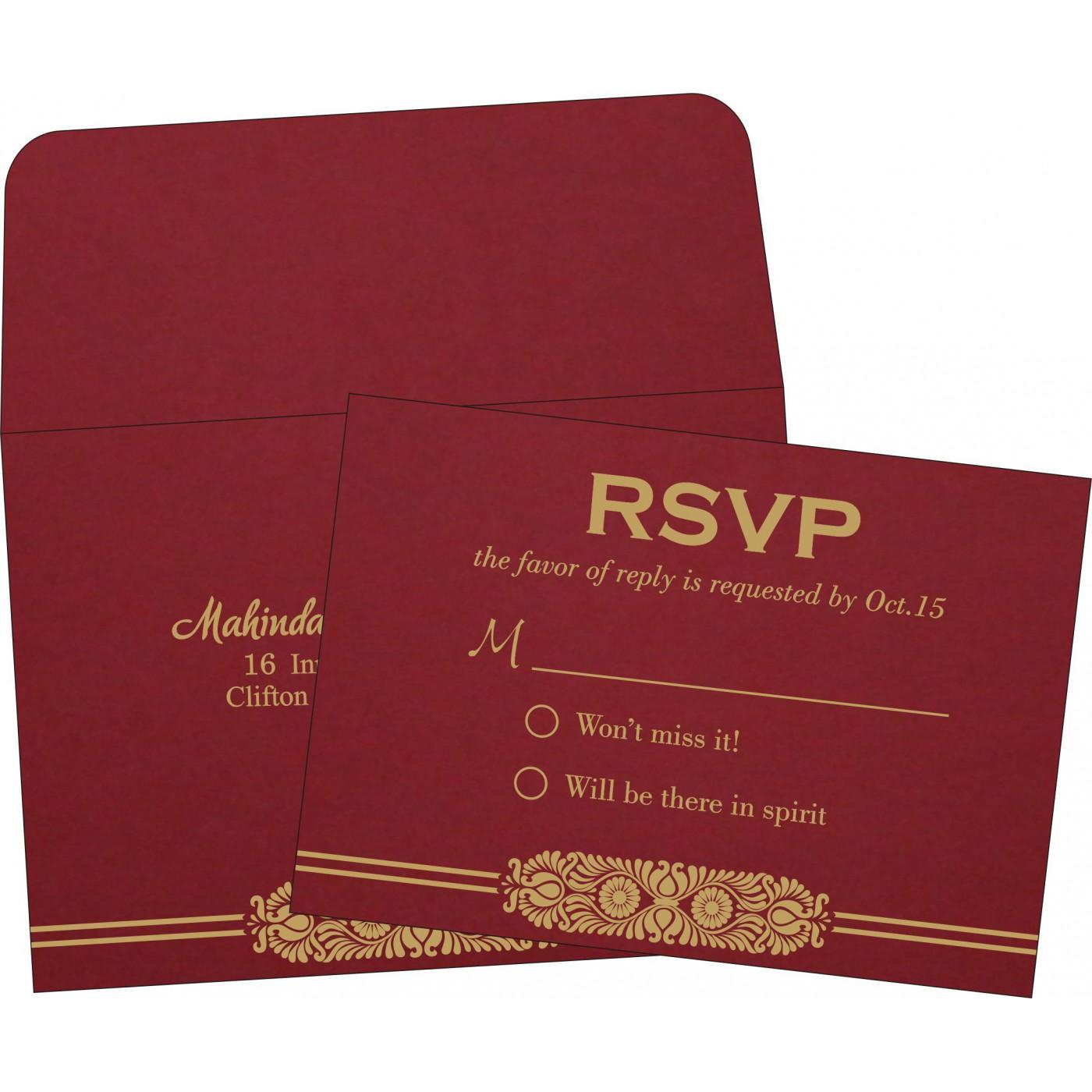 RSVP Cards : CRSVP-2215 - IndianWeddingCards