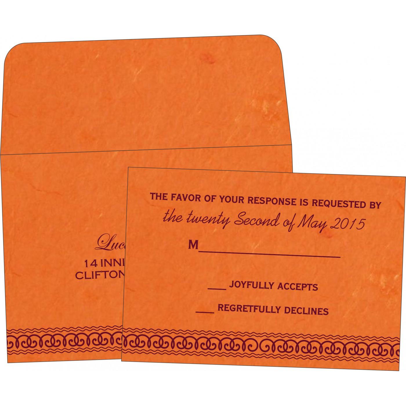 RSVP Cards : CRSVP-5002A - IndianWeddingCards