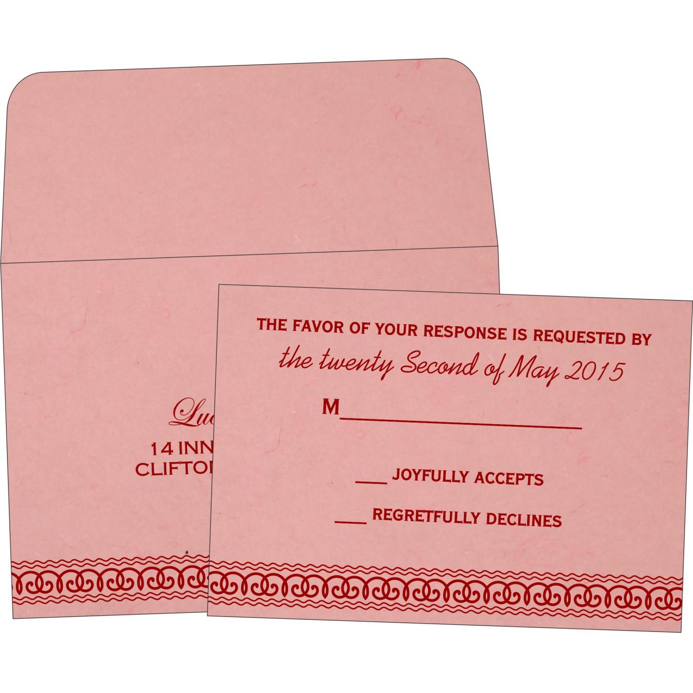 RSVP Cards : CRSVP-5002M - IndianWeddingCards