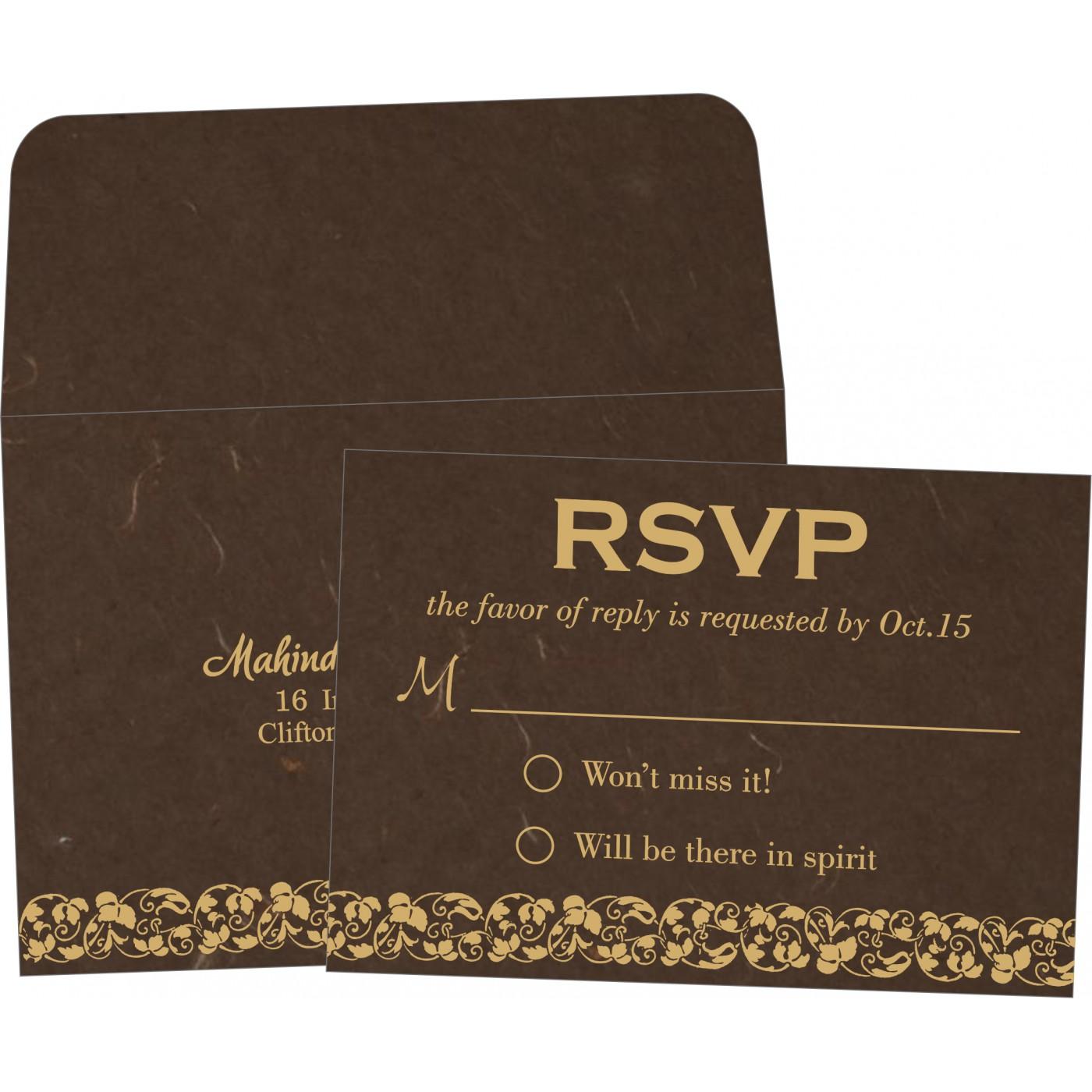RSVP Cards : CRSVP-5006K - IndianWeddingCards