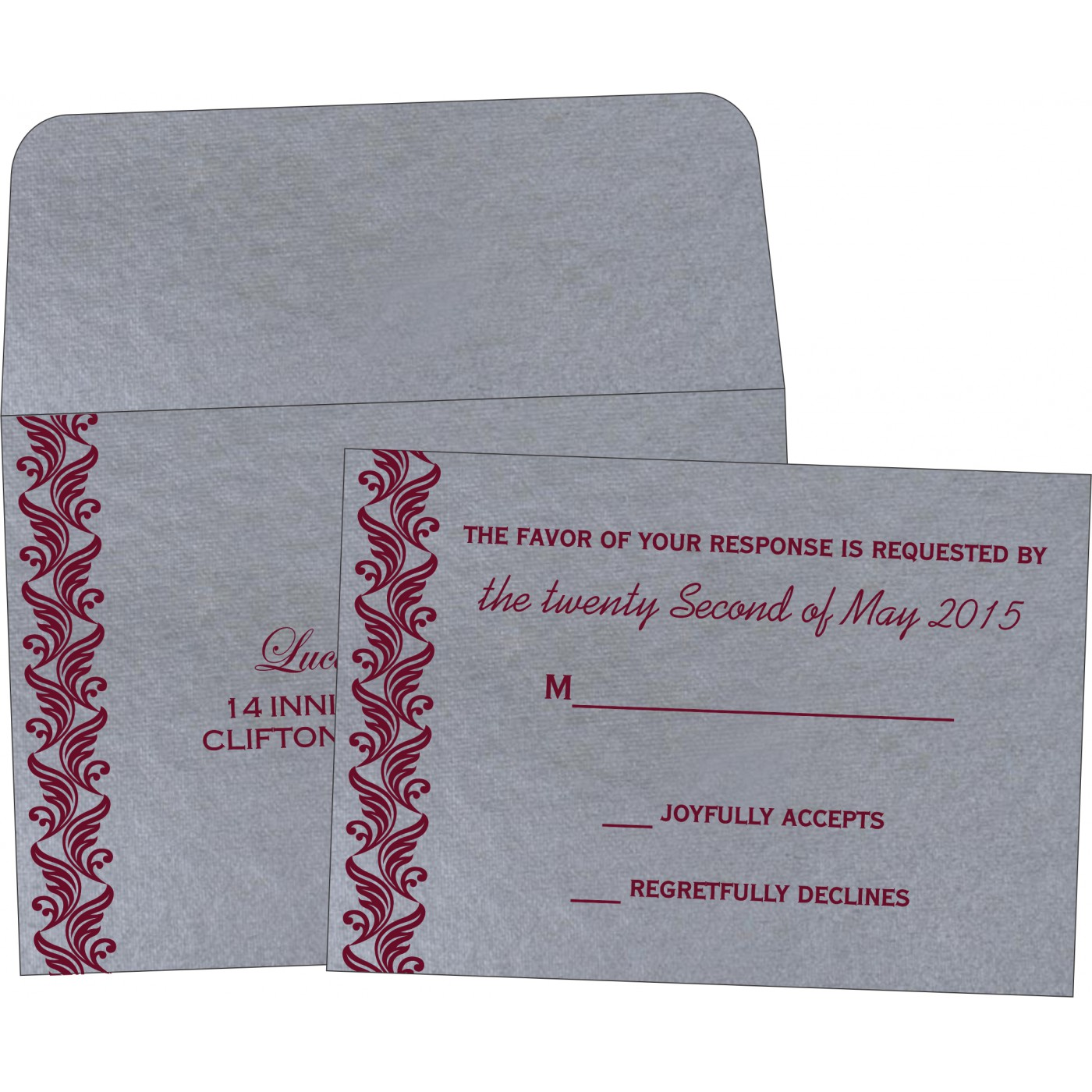 RSVP Cards : CRSVP-5007F - IndianWeddingCards