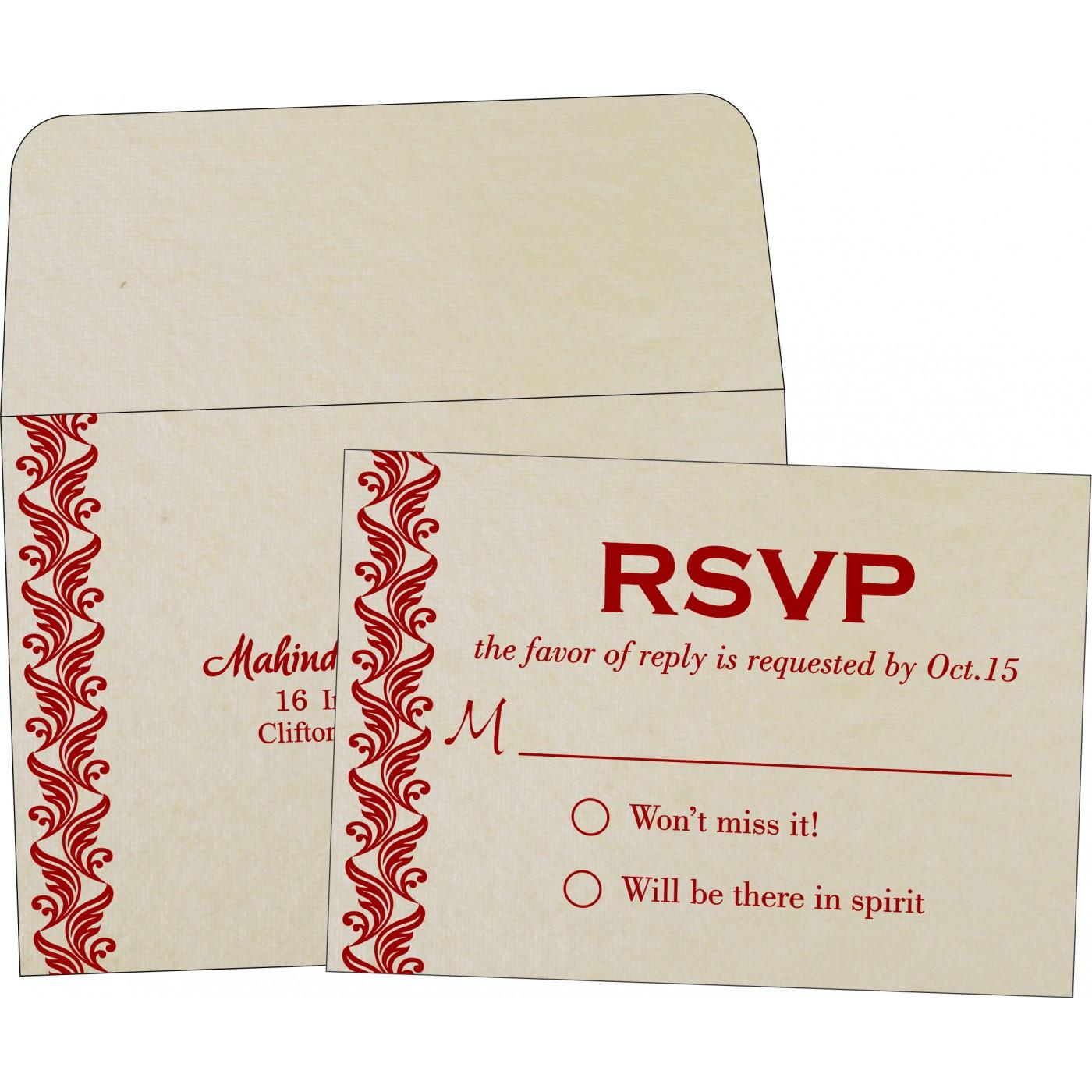 RSVP Cards : CRSVP-5007J - IndianWeddingCards