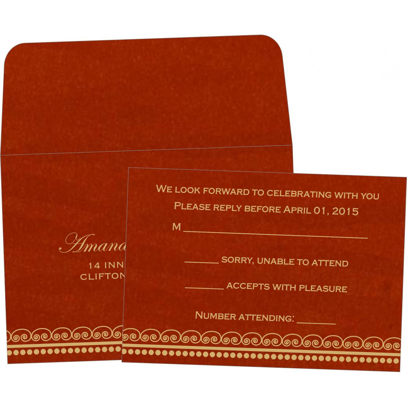 RSVP Cards : CRSVP-5009B - IndianWeddingCards