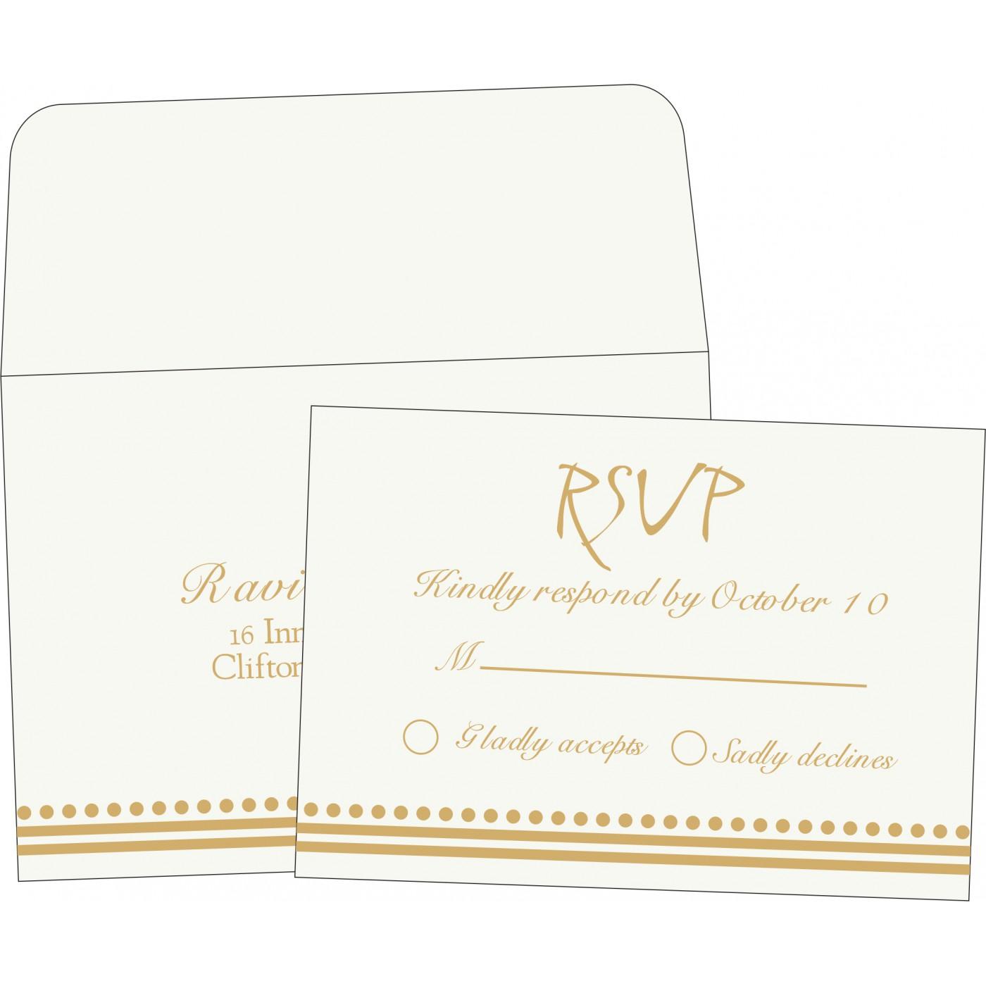 RSVP Cards : CRSVP-5011I - IndianWeddingCards