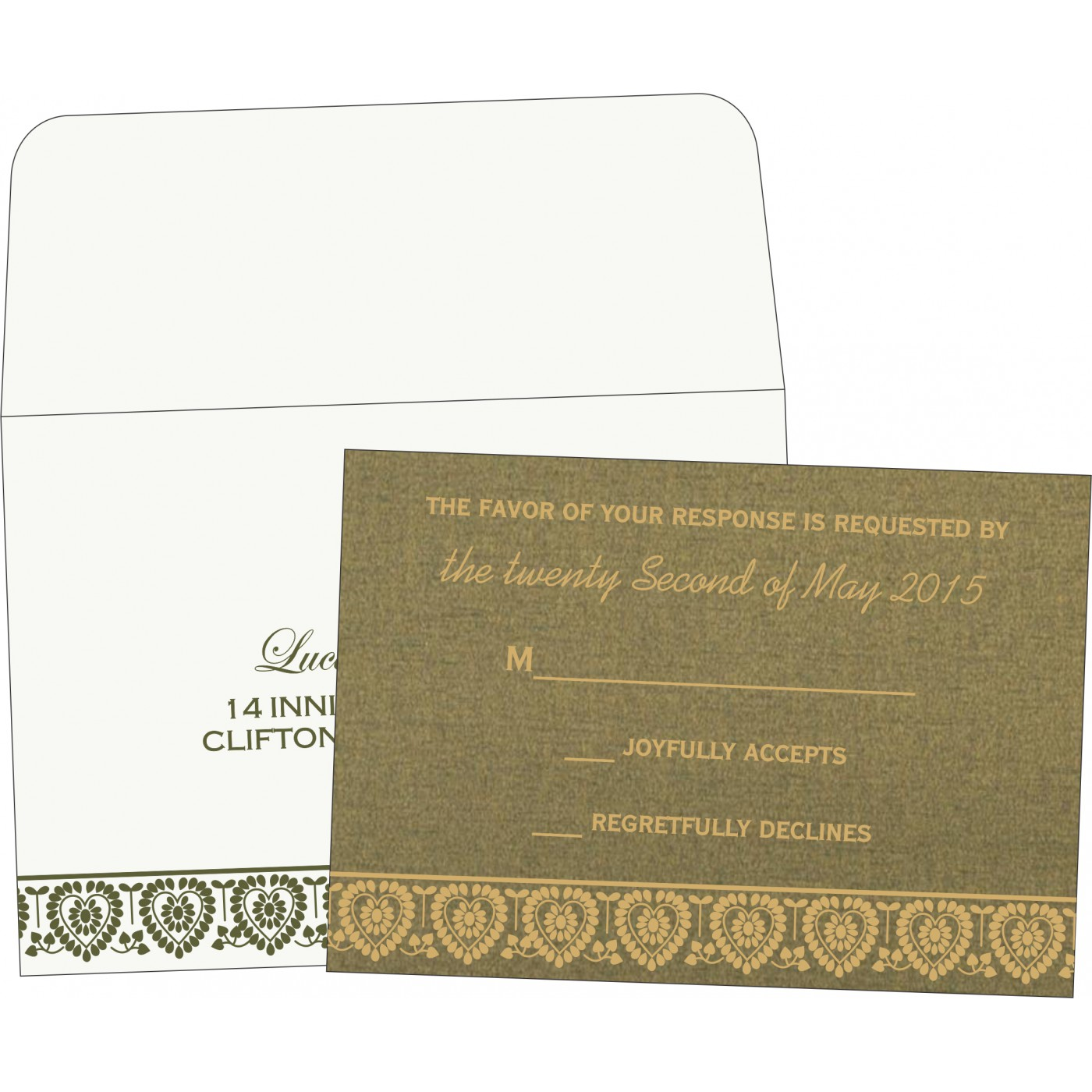 RSVP Cards : CRSVP-5012A - IndianWeddingCards