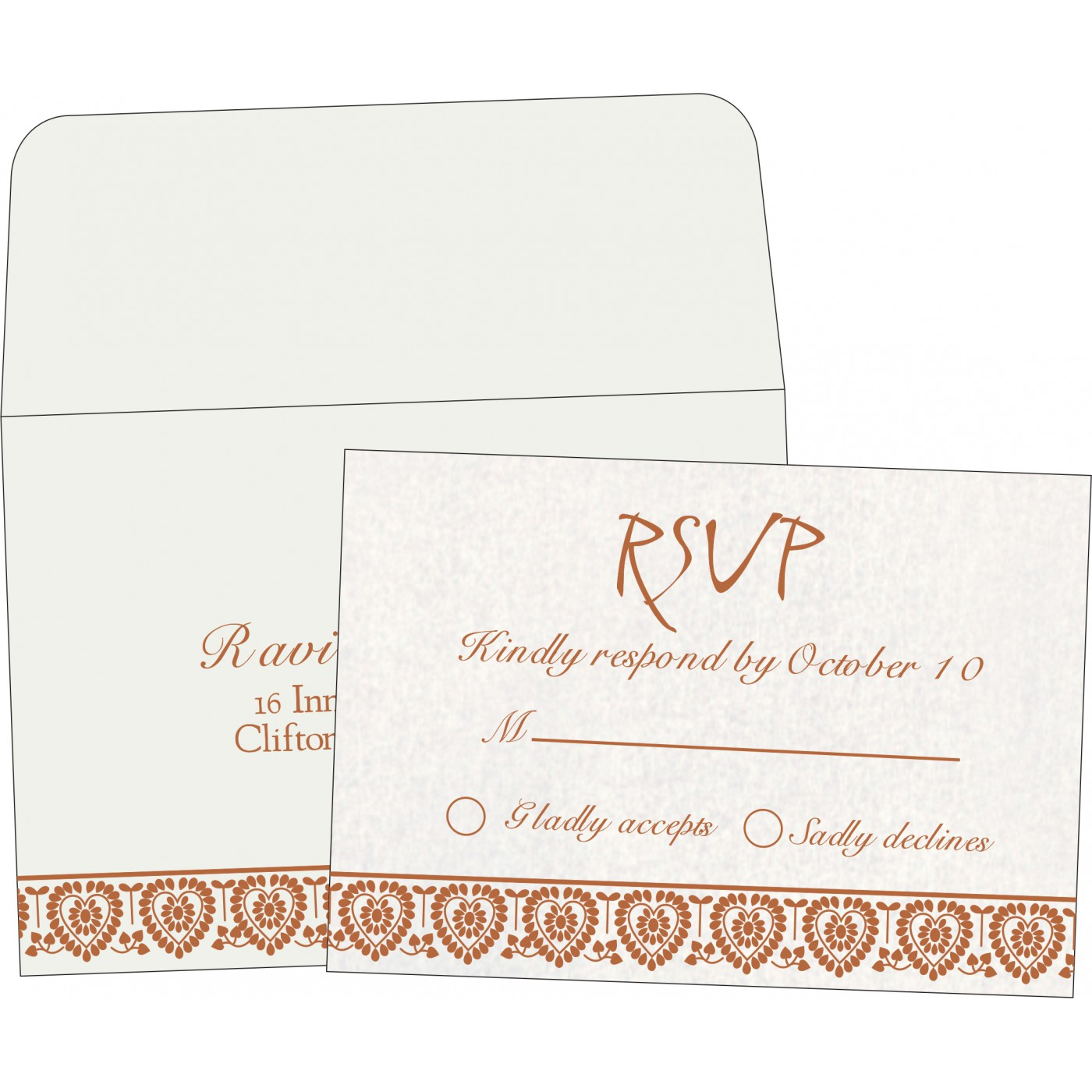 RSVP Cards : CRSVP-5012D - IndianWeddingCards