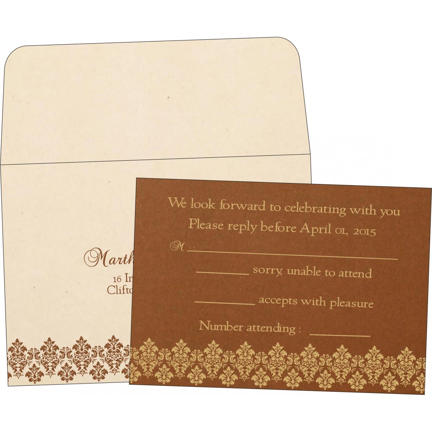 RSVP Cards : CRSVP-5016C - IndianWeddingCards