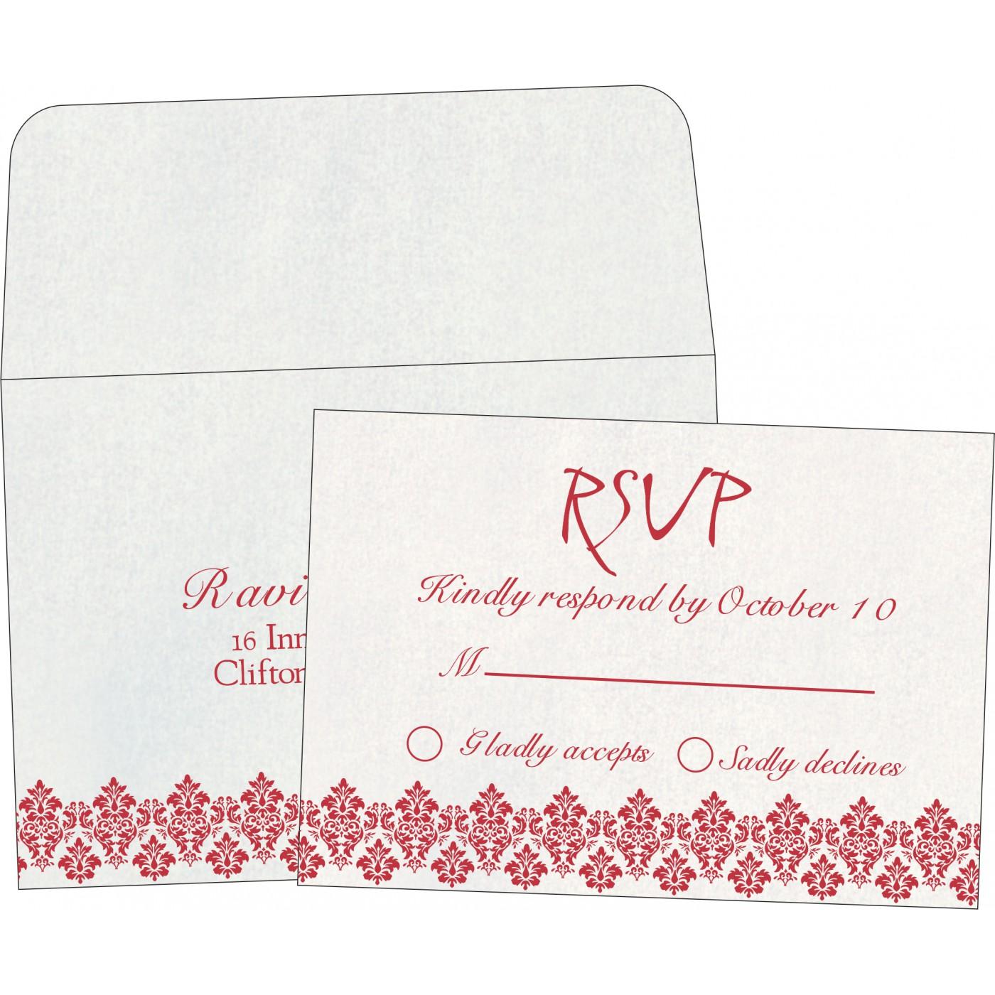 RSVP Cards : CRSVP-5016D - IndianWeddingCards