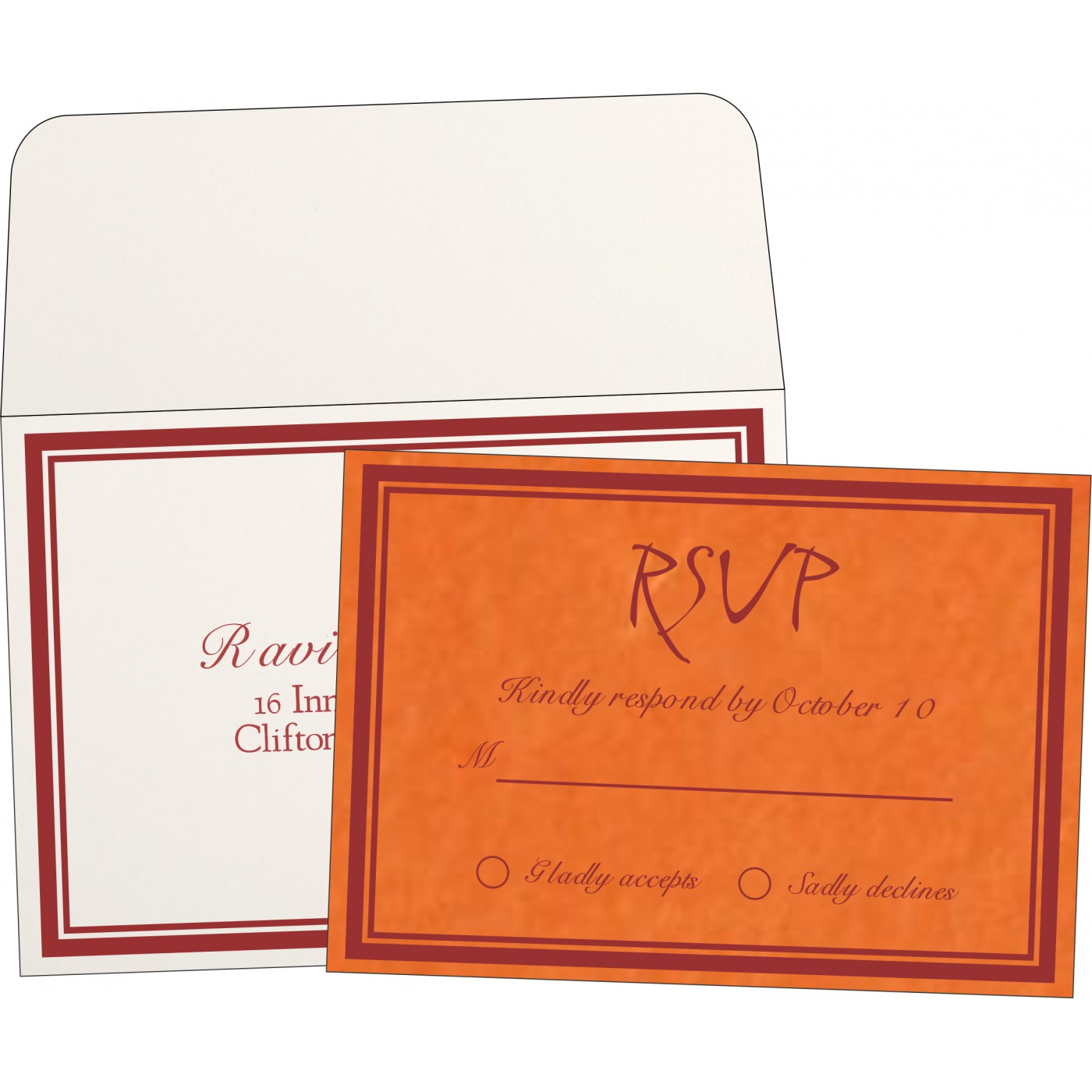 RSVP Cards : CRSVP-8203J - IndianWeddingCards